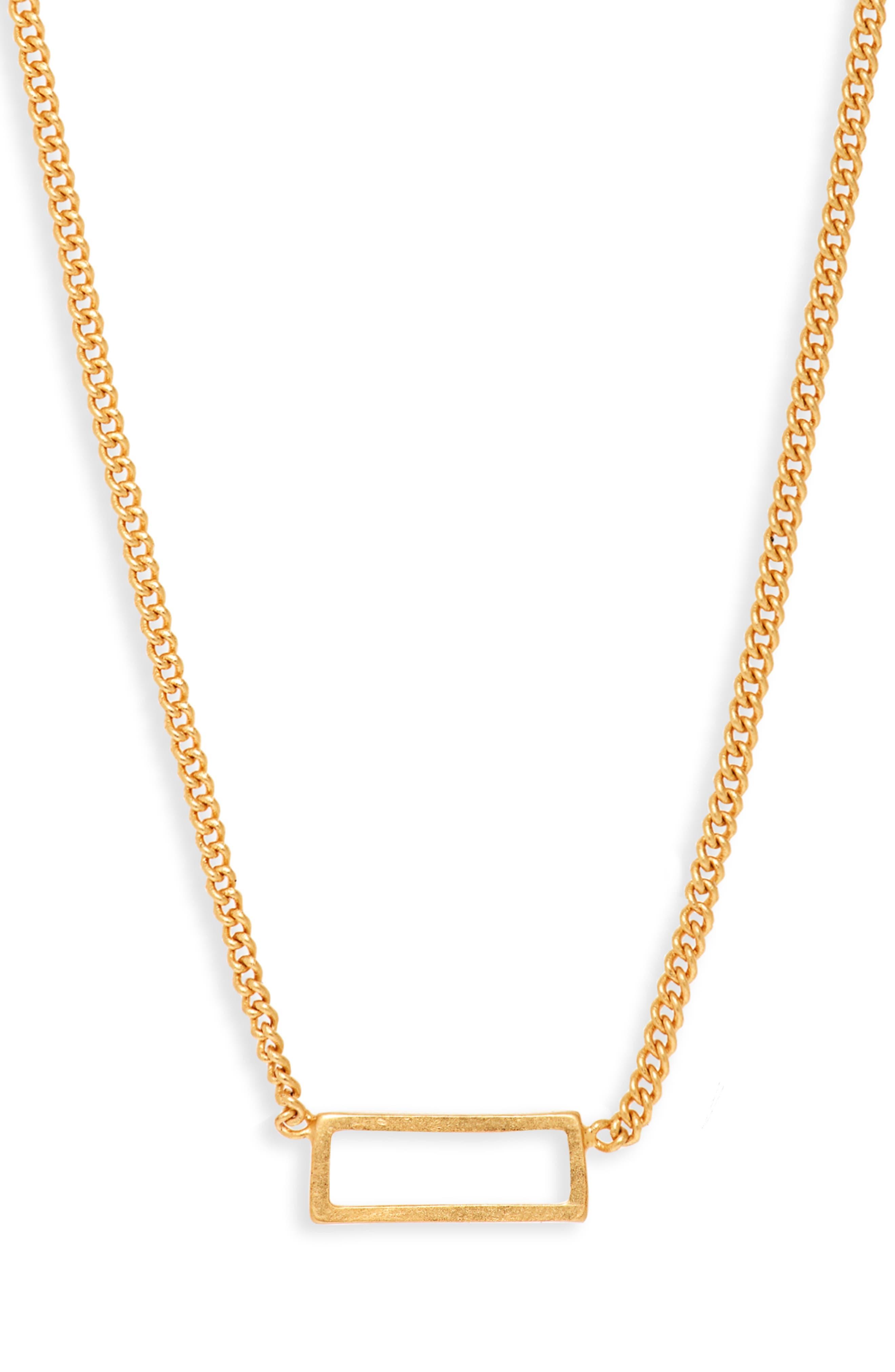 Gilded Frame Necklace,                         Main,                         color, VINTAGE GOLD