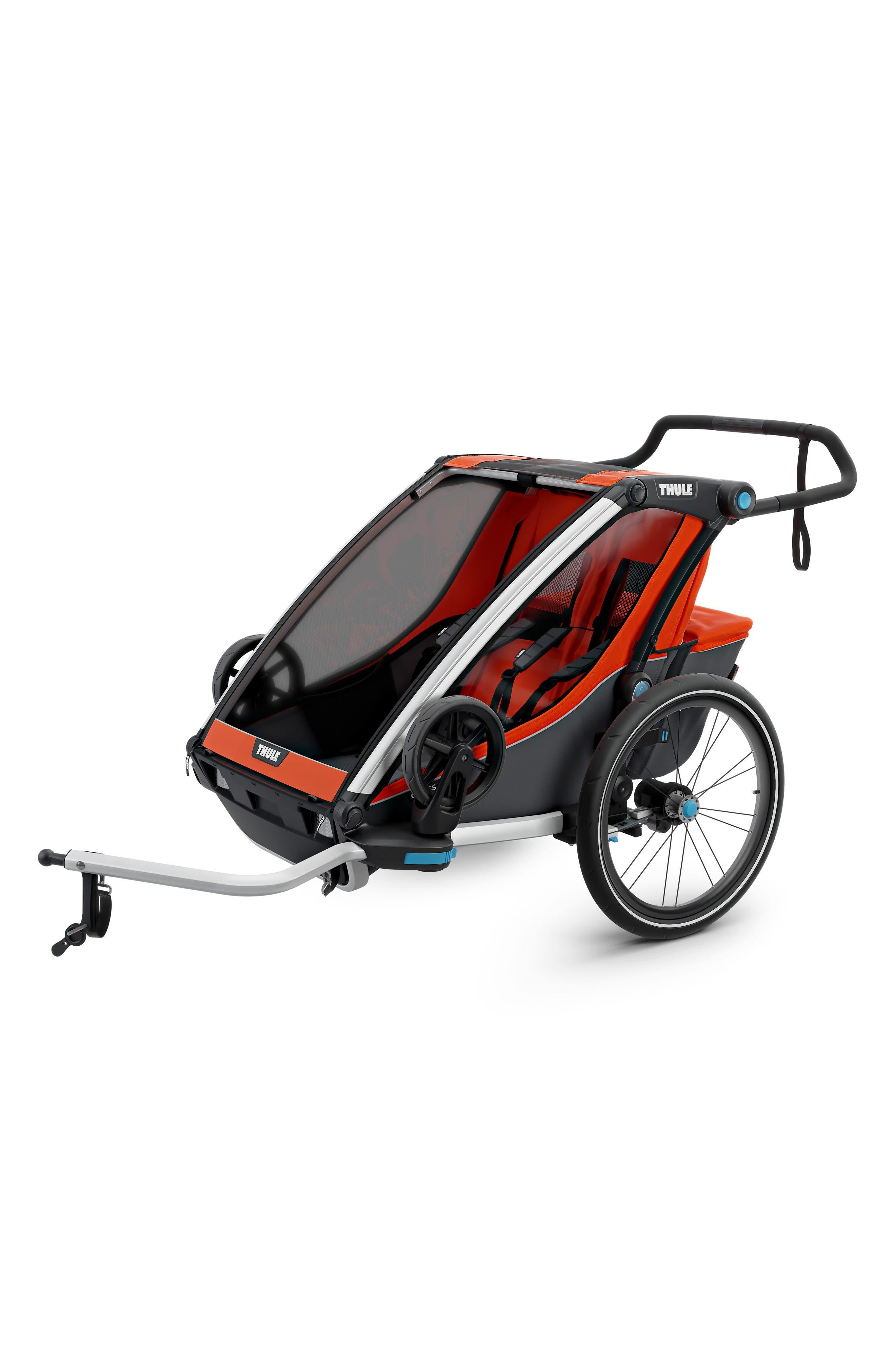 Chariot Cross 2 Multisport Double Cycle Trailer/Stroller,                             Alternate thumbnail 2, color,                             ROARANGE