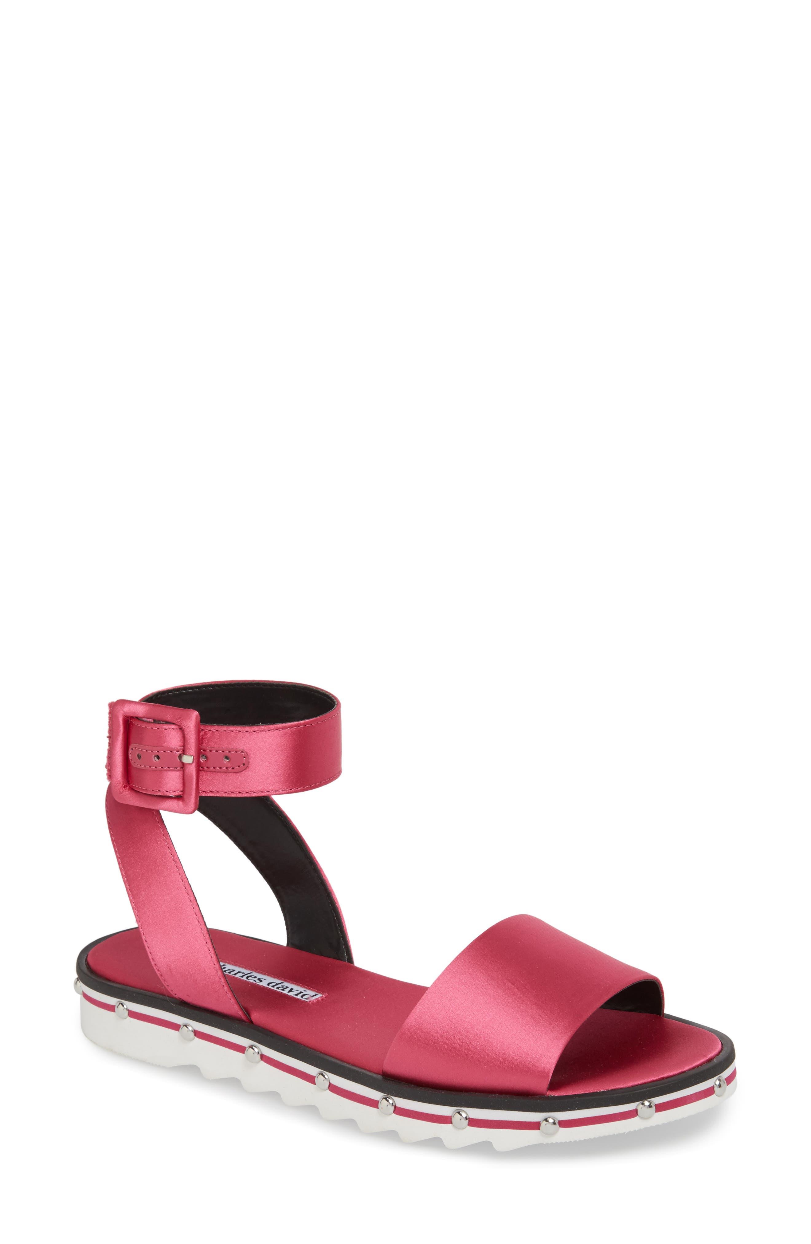 Charles David Shimmy Sandal, Pink