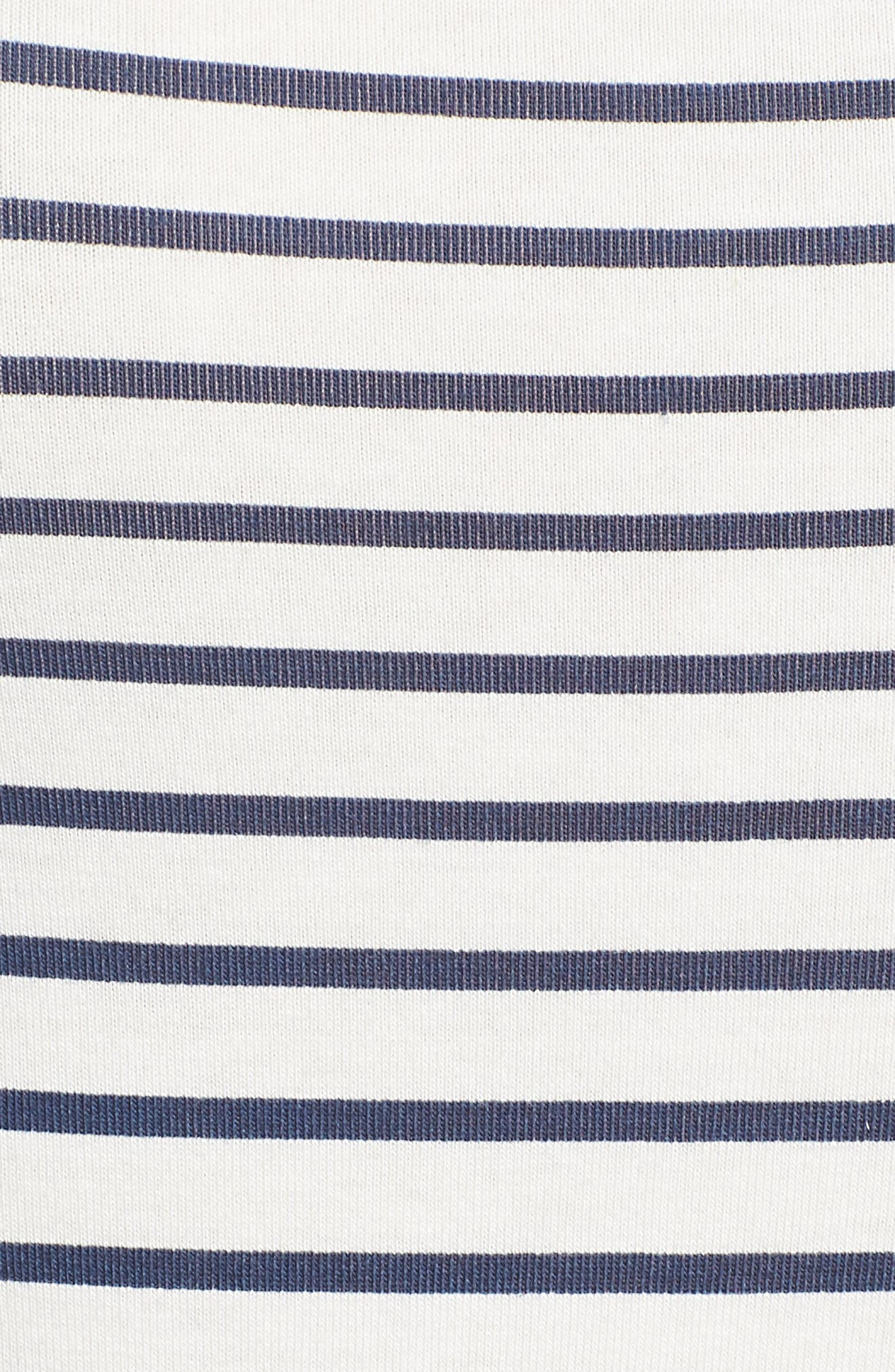 Stripe Square Neck Bodysuit,                             Alternate thumbnail 5, color,                             WHITE / NAVY STRIPE