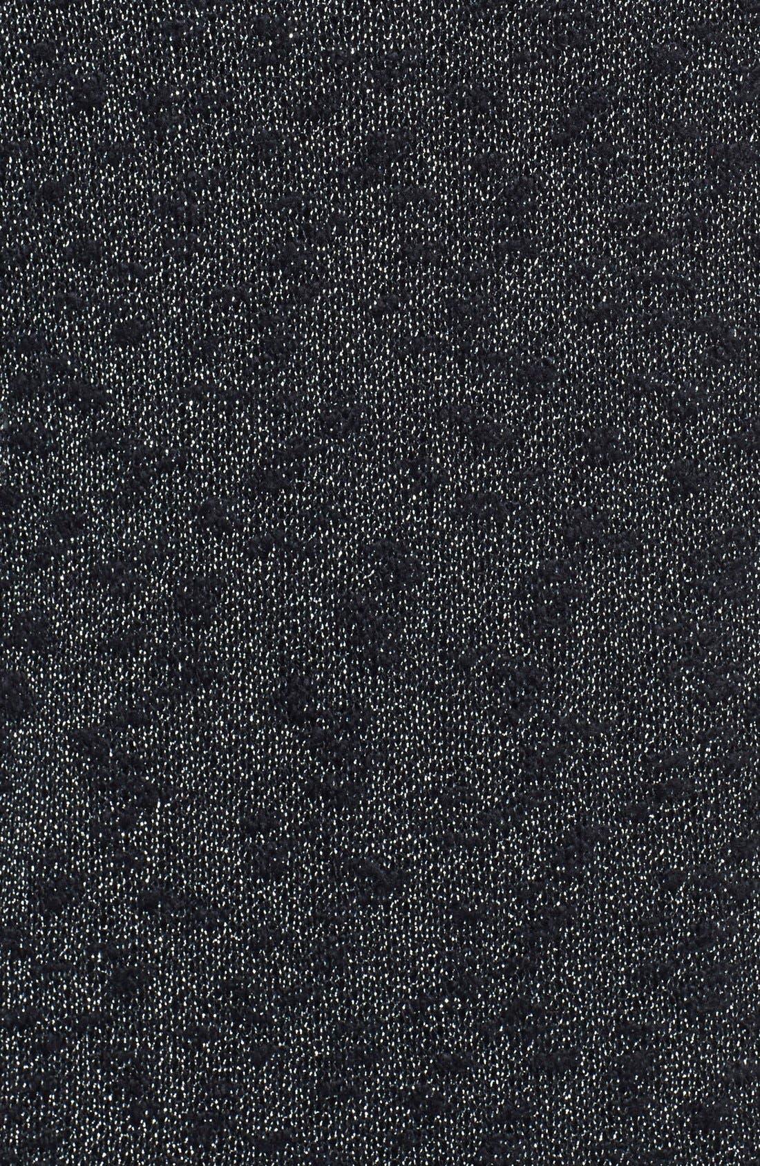 Silver Shimmer Mélange Pullover,                             Alternate thumbnail 3, color,                             006
