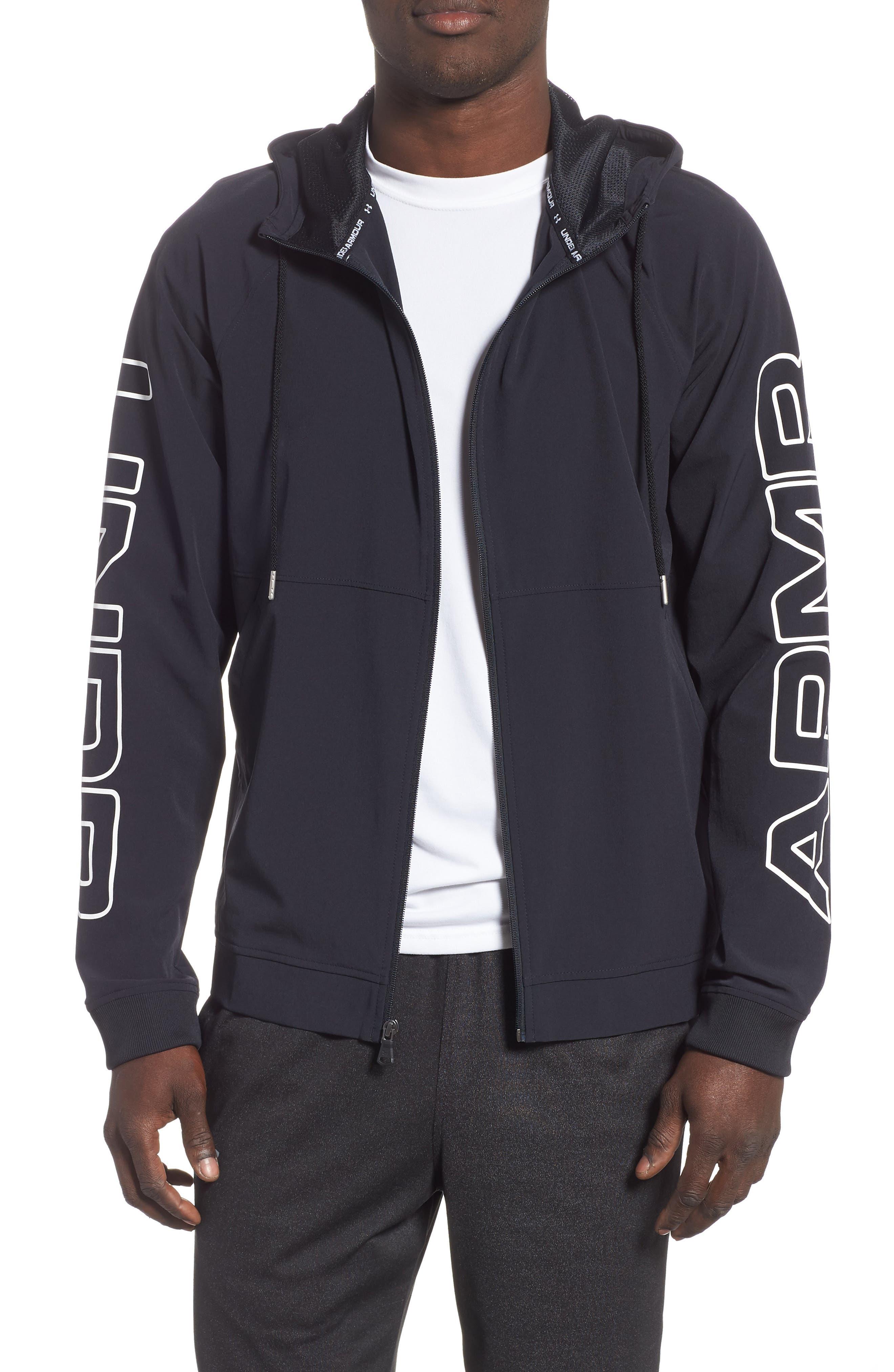 Baseline Hooded Jacket,                         Main,                         color, BLACK