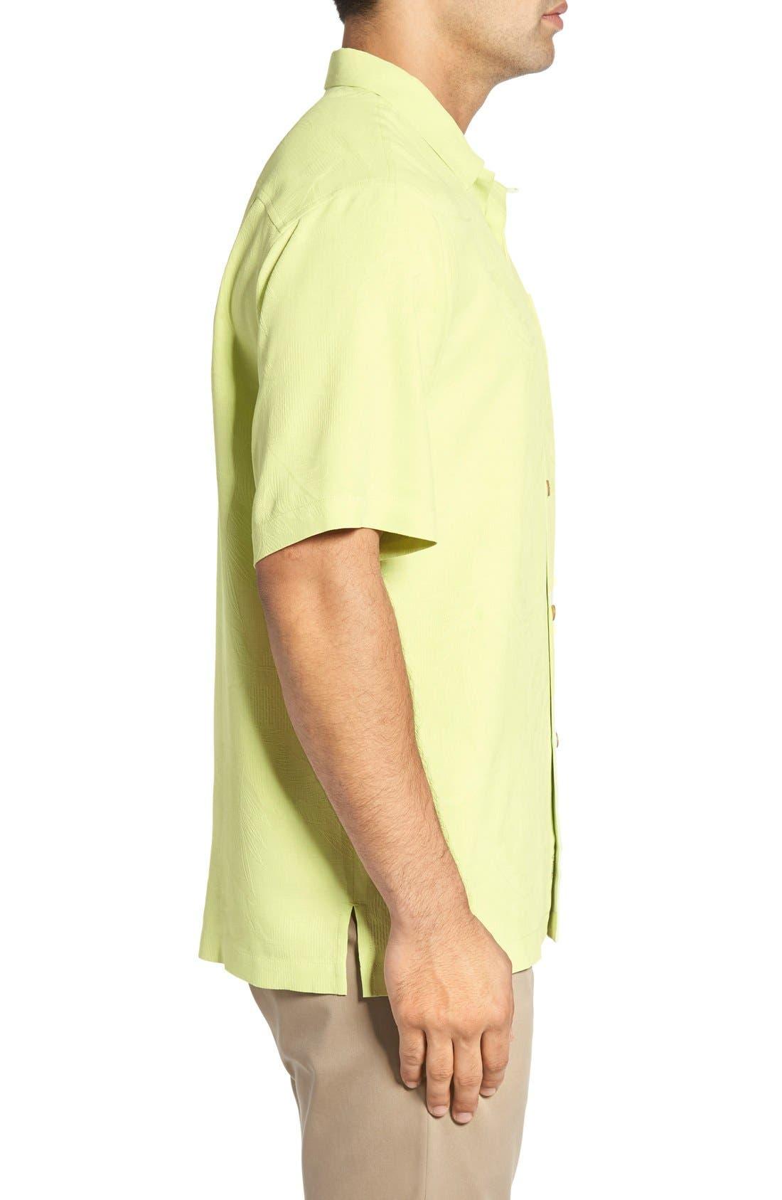 Rio Fronds Short Sleeve Silk Sport Shirt,                             Alternate thumbnail 83, color,