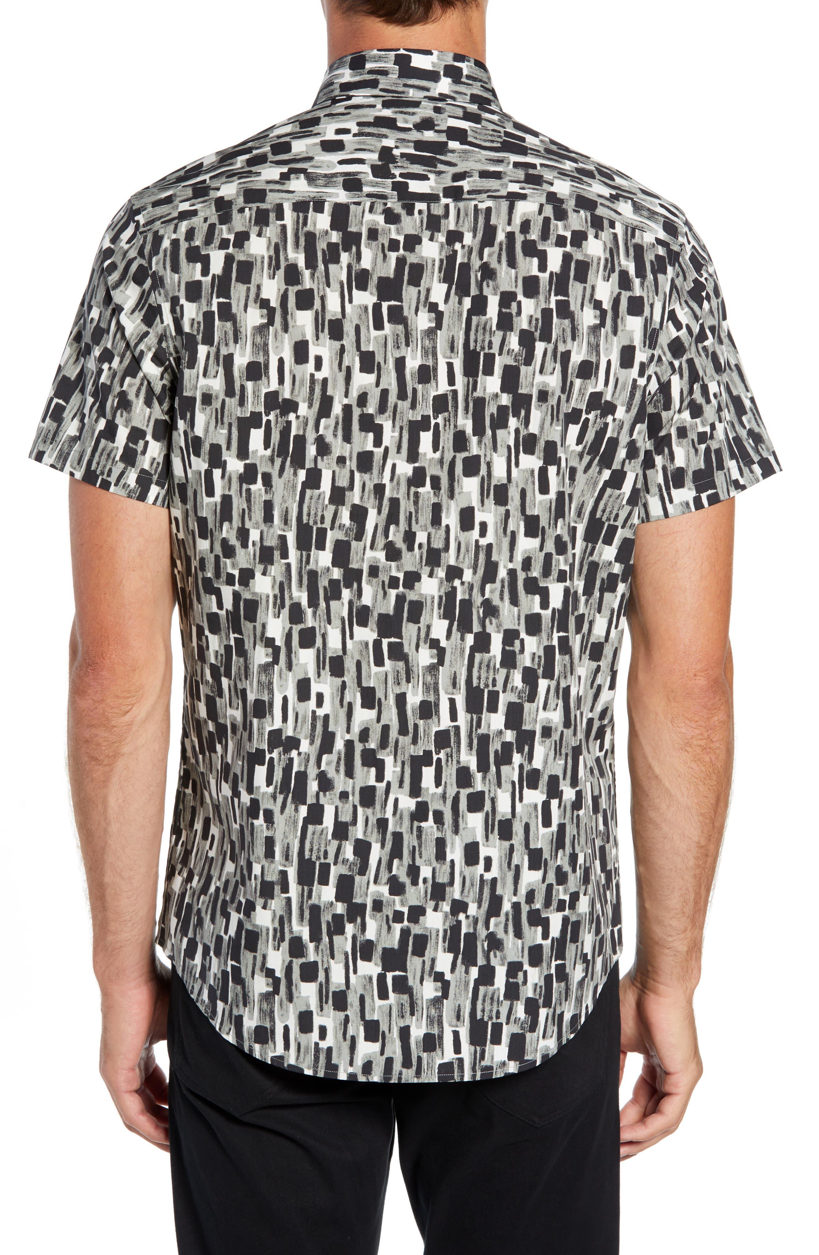 Mini Collar Print Sport Shirt,                             Alternate thumbnail 3, color,                             050