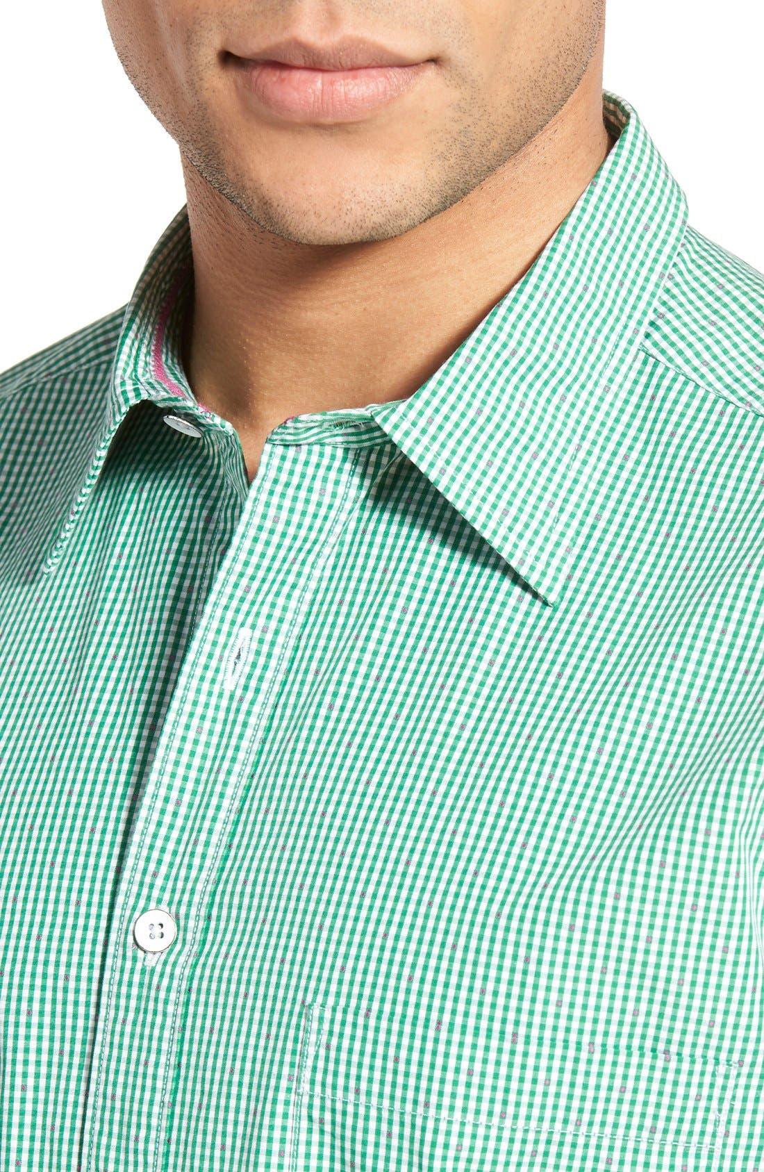 'Freeman' Sports Fit Check Sport Shirt,                             Alternate thumbnail 4, color,                             334