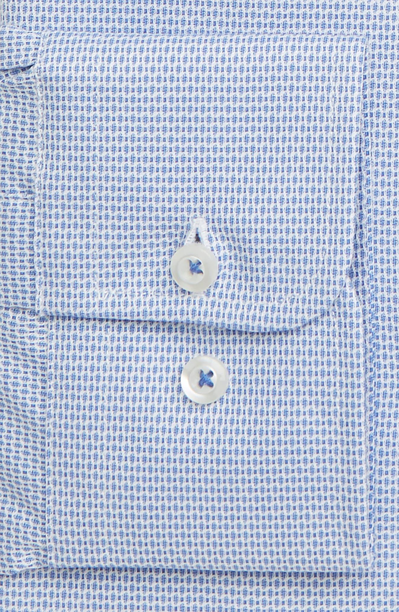 Trim Fit Print Dress Shirt,                             Alternate thumbnail 2, color,                             BLUE