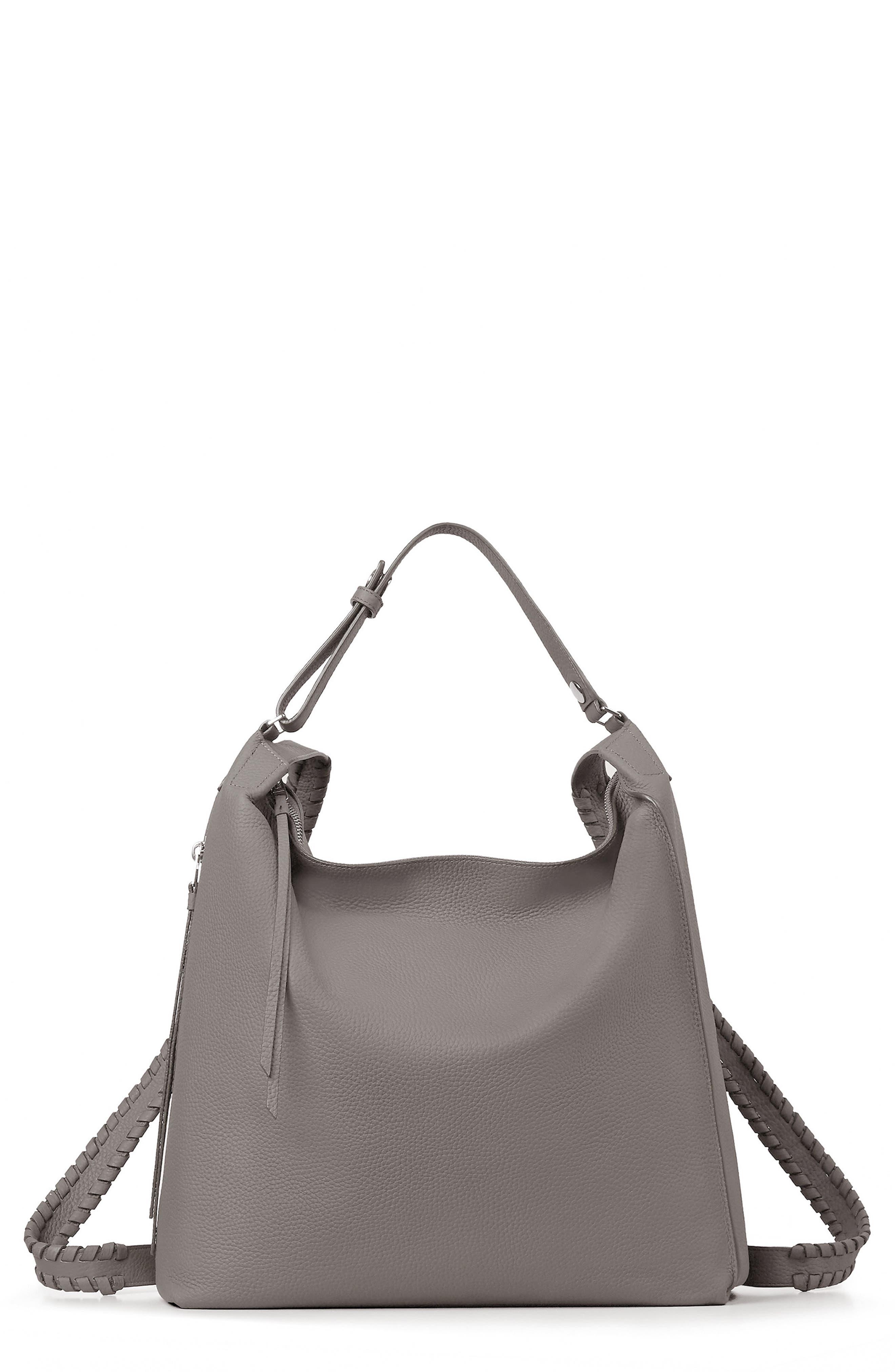 Kita Convertible Leather Backpack,                             Main thumbnail 1, color,                             STORM GREY