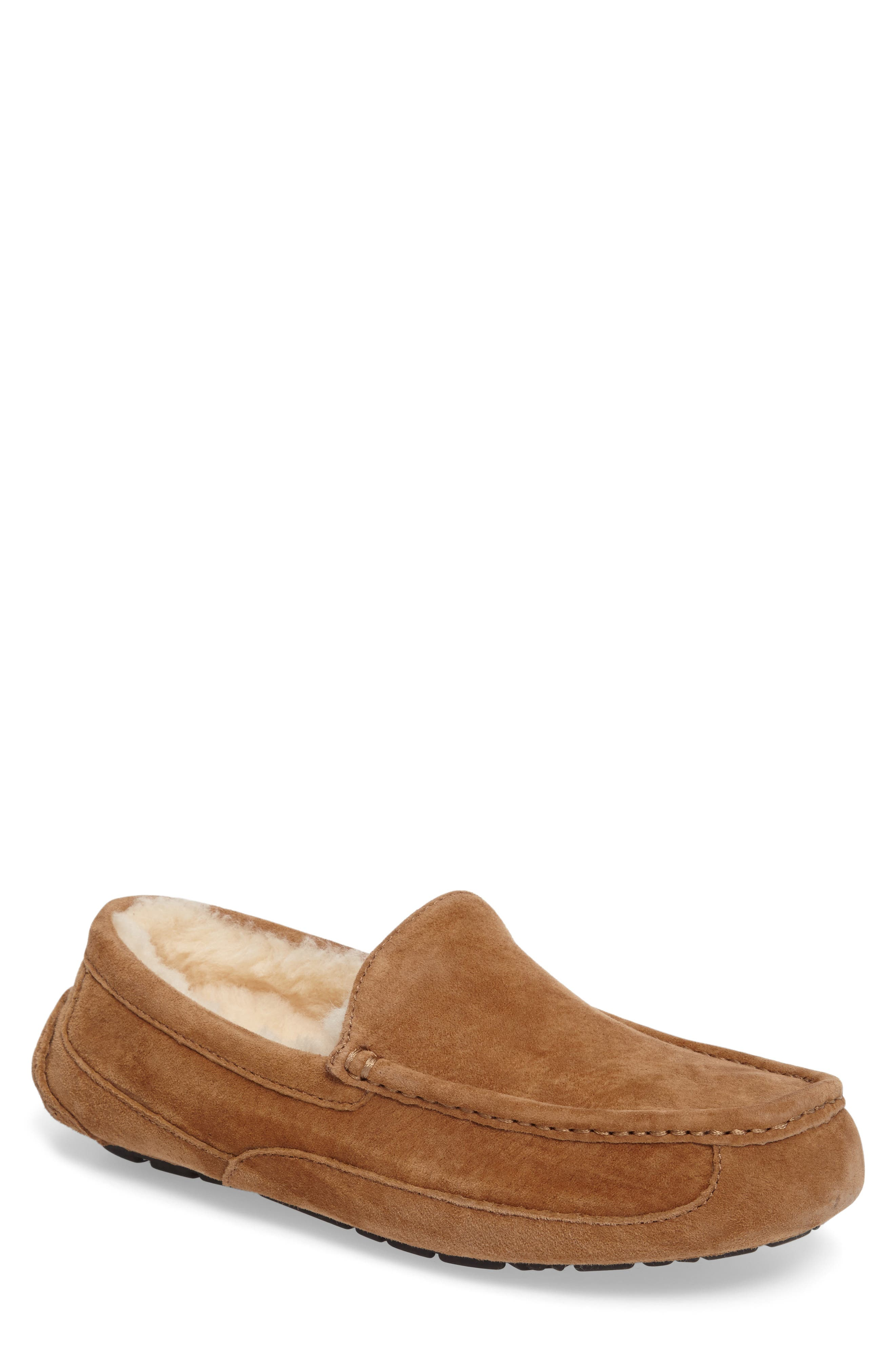 Ugg Ascot Suede Slipper, 8- Brown