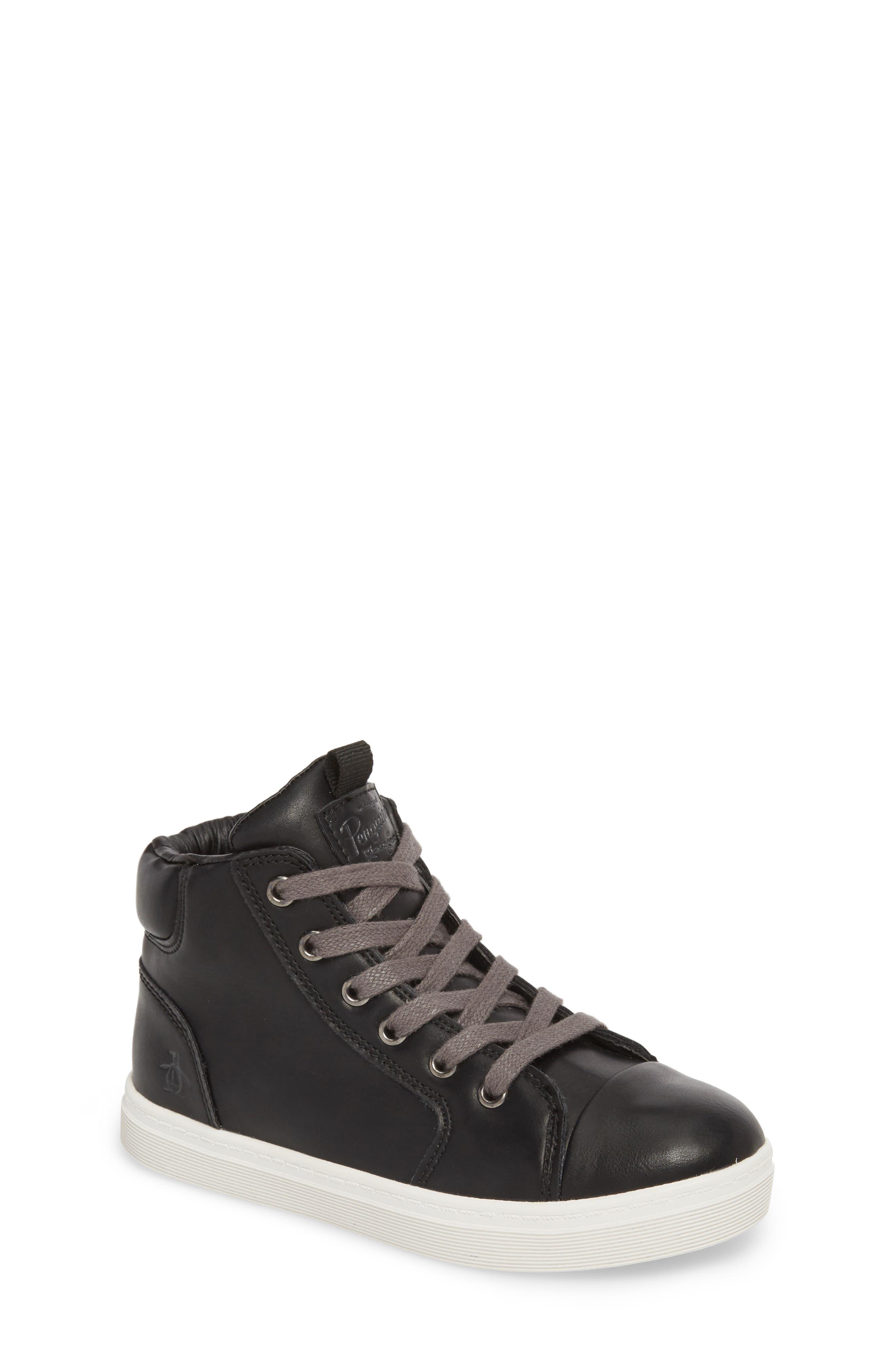 Carson High Top Sneaker,                         Main,                         color, BLACK