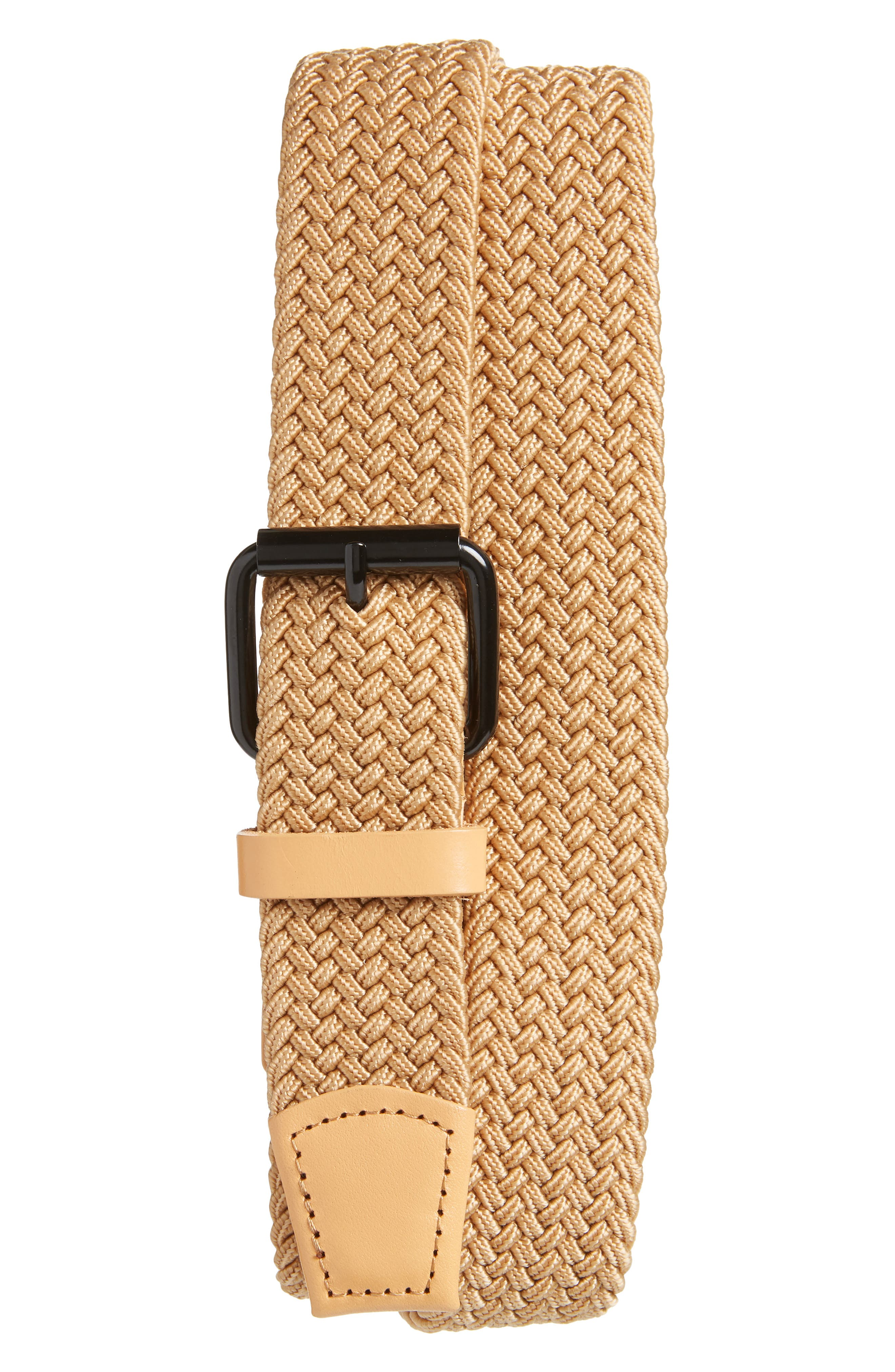 Saturdays Nyc Shane Woven Belt, Size One Size - Vegetable Tan