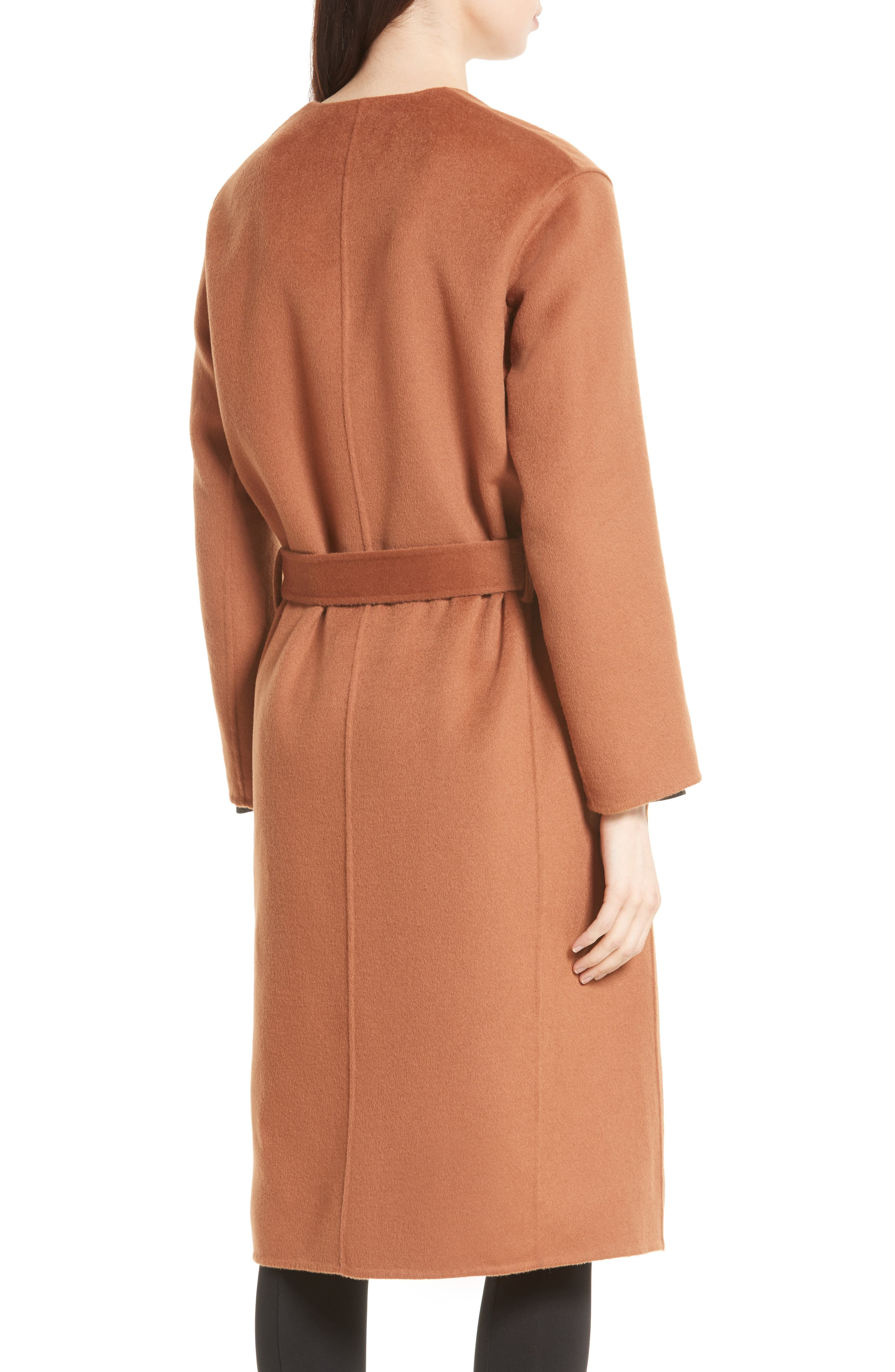 Reversible Wool & Cashmere Belted Coat,                             Alternate thumbnail 6, color,