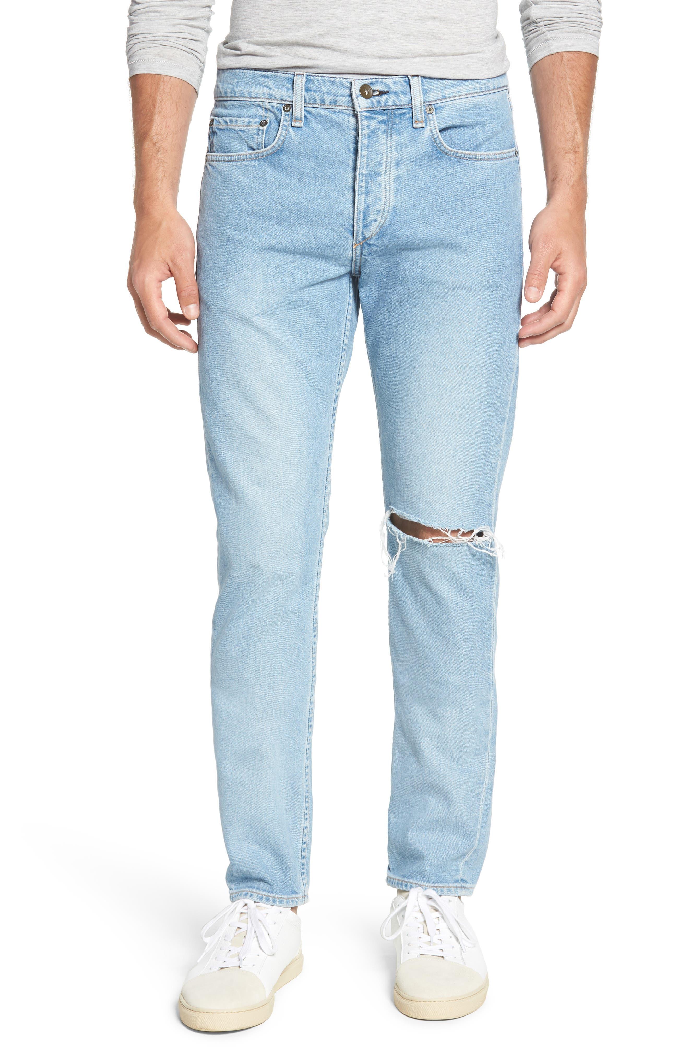 Fit 2 Slim Fit Jeans,                         Main,                         color, MONTAUK W/ HOLE