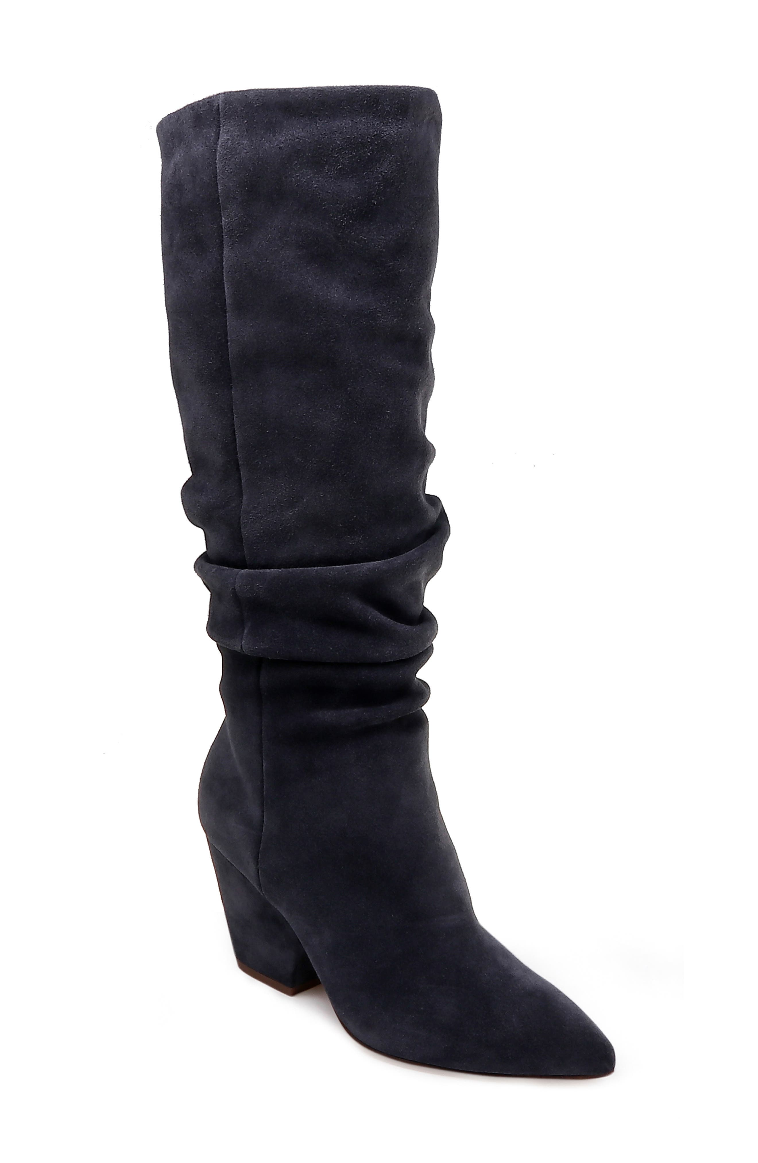 Clayton Slouchy Boot,                         Main,                         color, GREYSTONE SUEDE