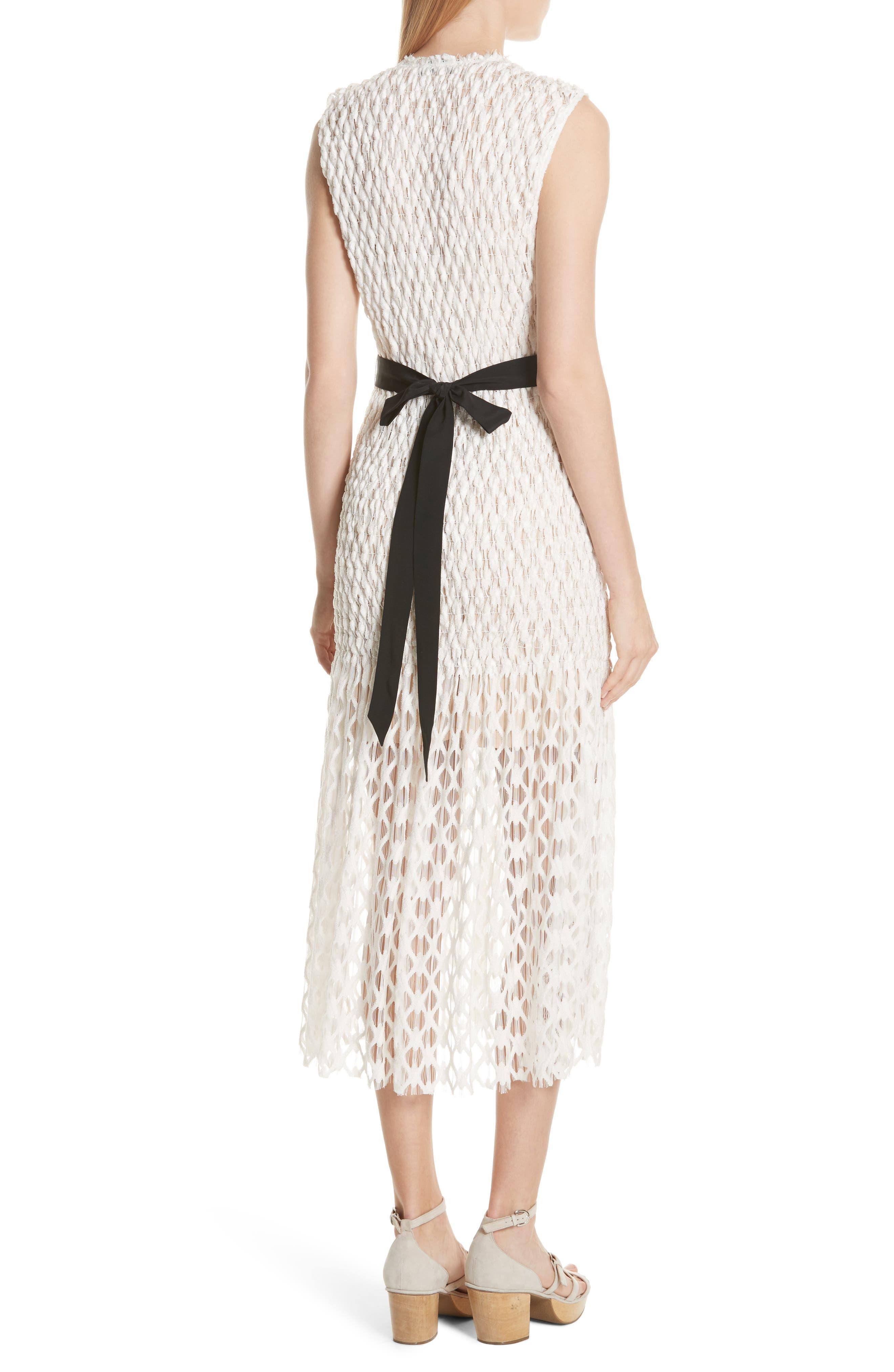 Merge Midi Dress,                             Alternate thumbnail 2, color,                             OFF WHITE