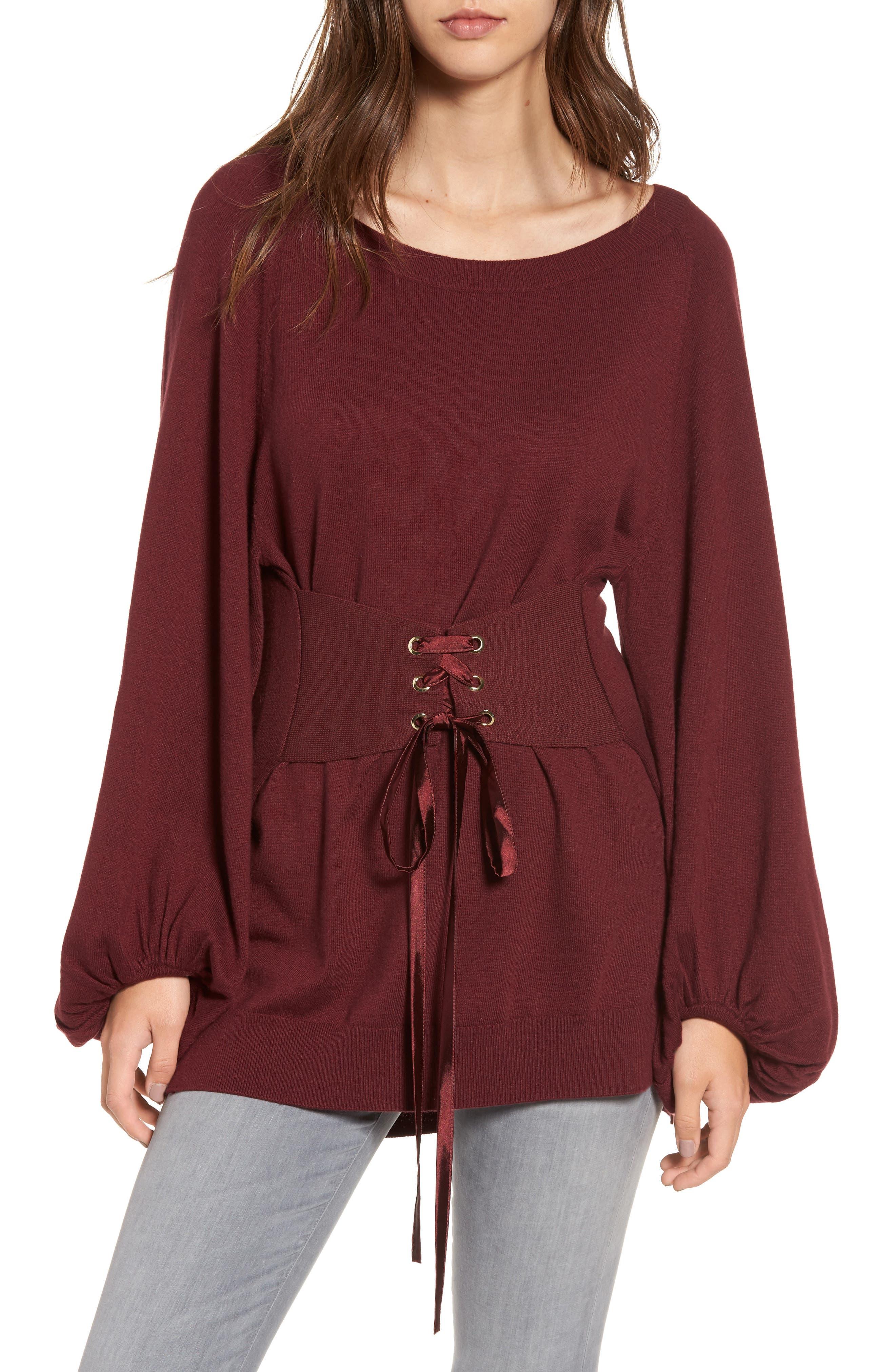 Corset Tunic Sweater,                             Main thumbnail 2, color,
