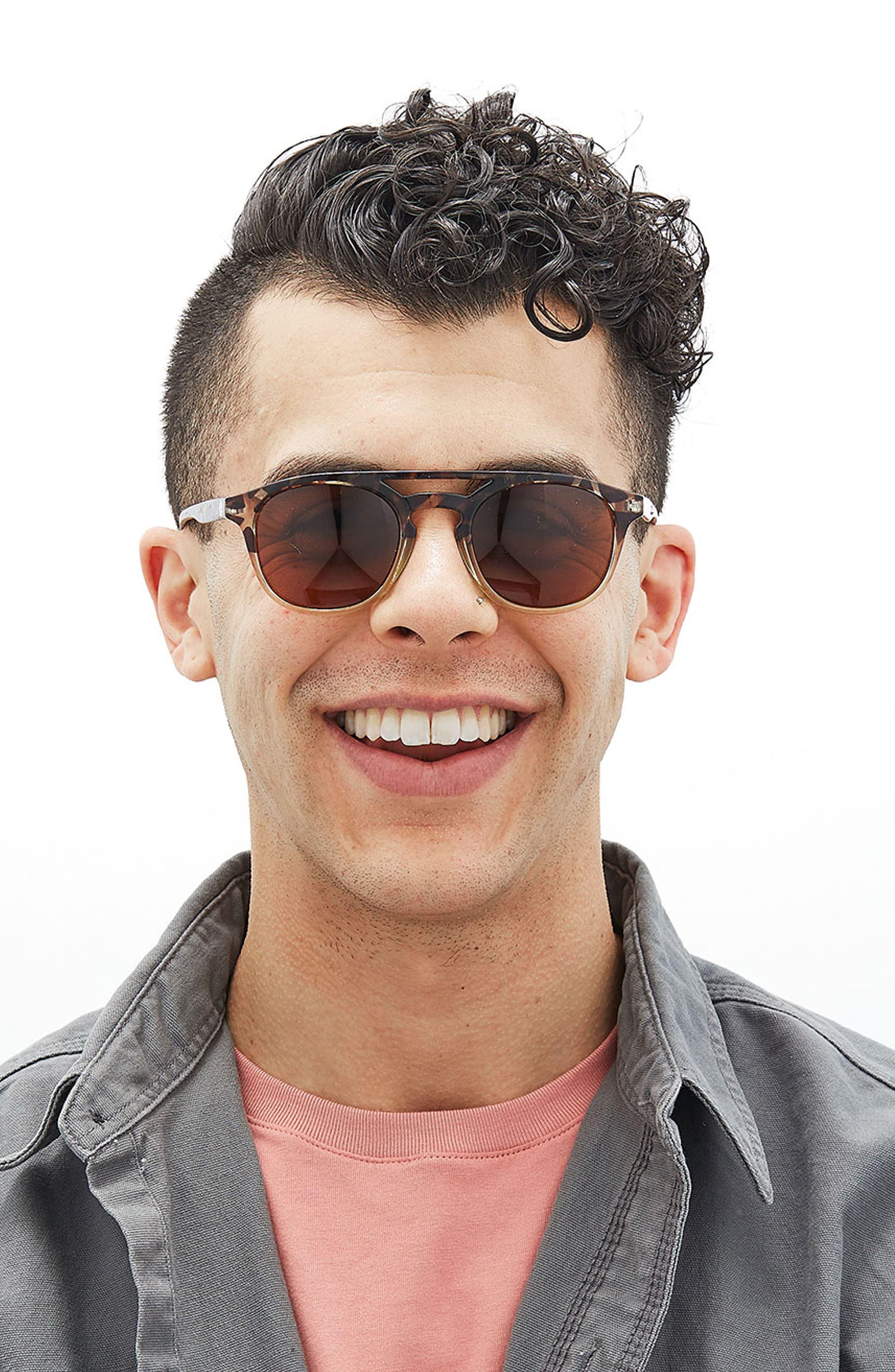 Olema 53mm Polarized Sunglasses,                             Alternate thumbnail 2, color,                             TORTOISE AMBER