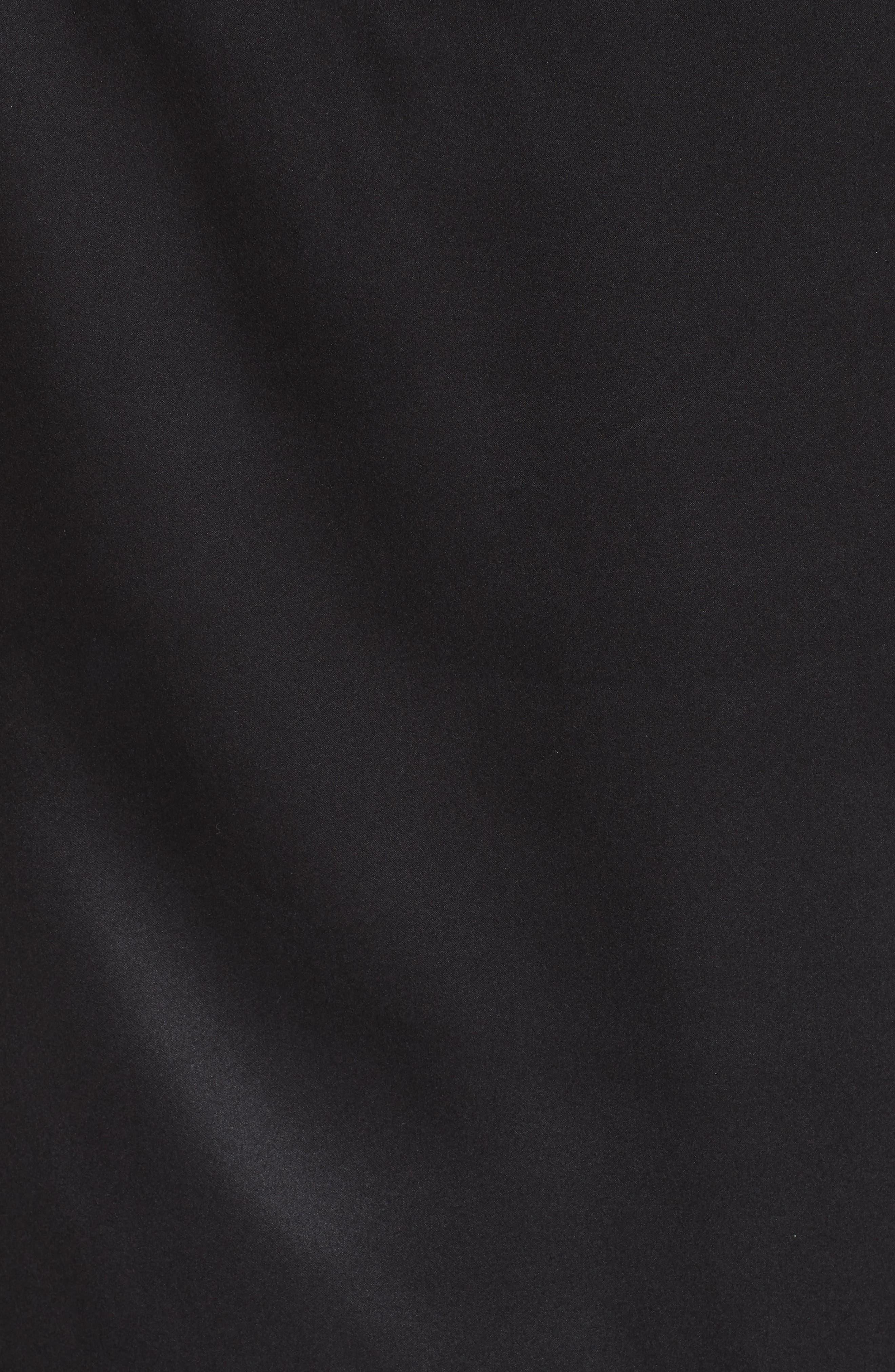 Alinea Deep Silk Camisole,                             Alternate thumbnail 5, color,                             BLACK