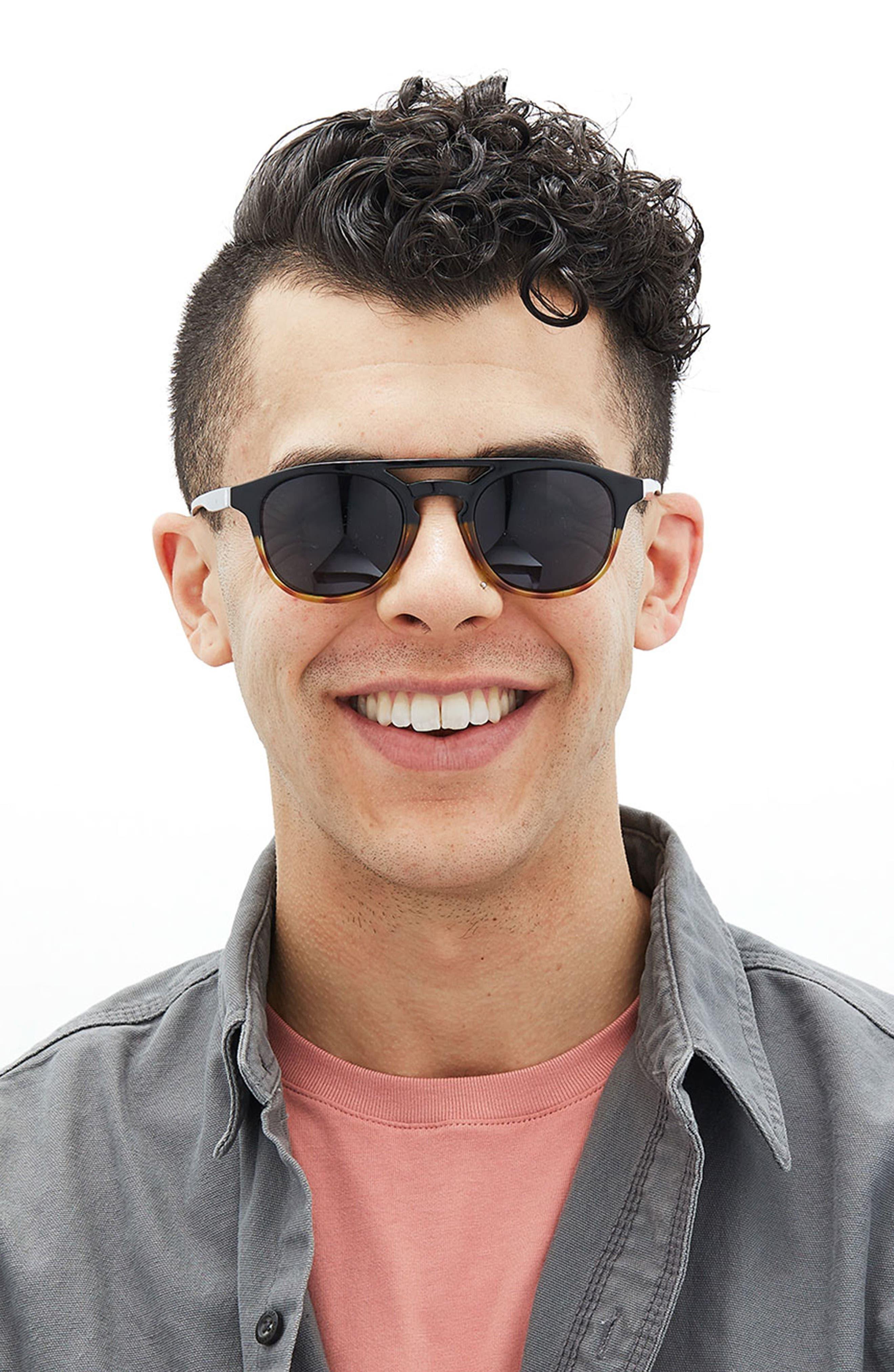 Olema 53mm Polarized Sunglasses,                             Alternate thumbnail 4, color,                             TORTOISE AMBER