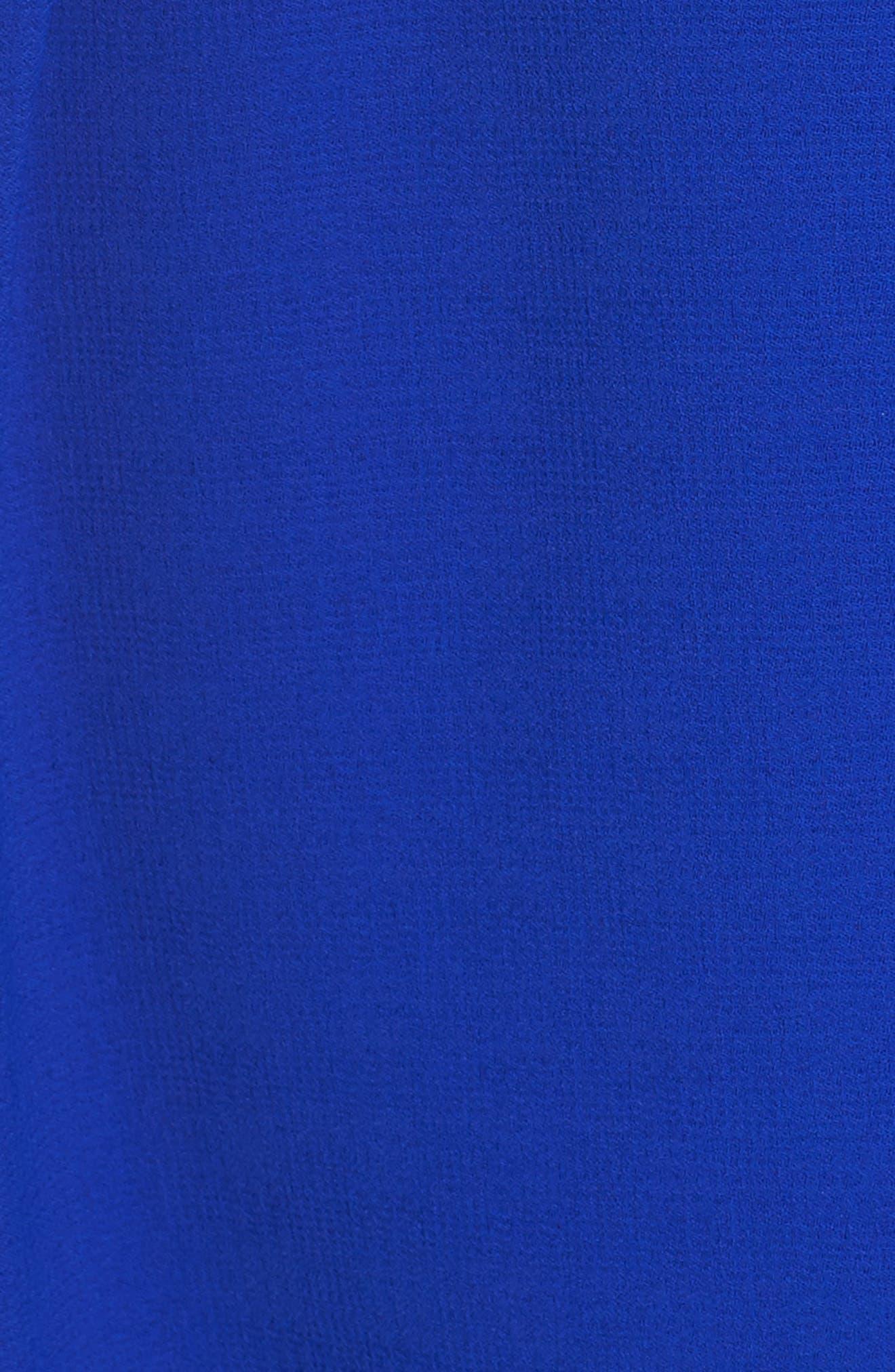 Scalloped Fit & Flare Dress,                             Alternate thumbnail 5, color,                             BLUE