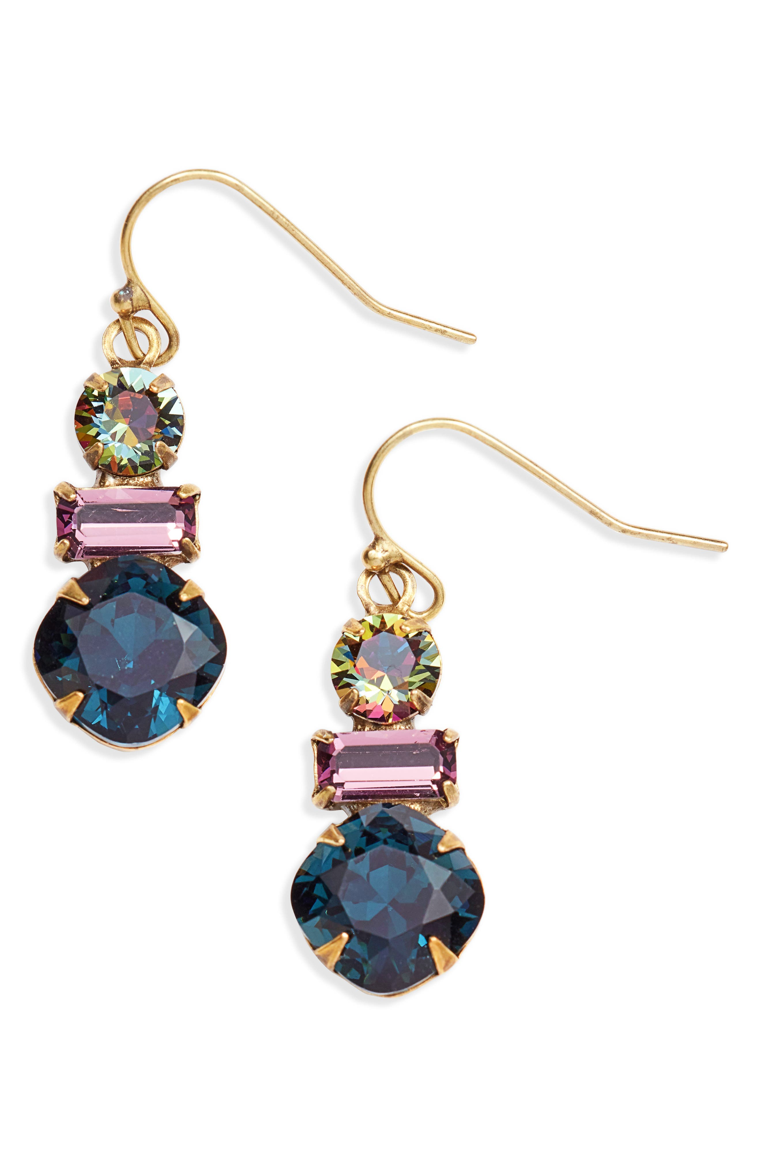 SORRELLI Dianella Crystal Drop Earrings in Blue Multi