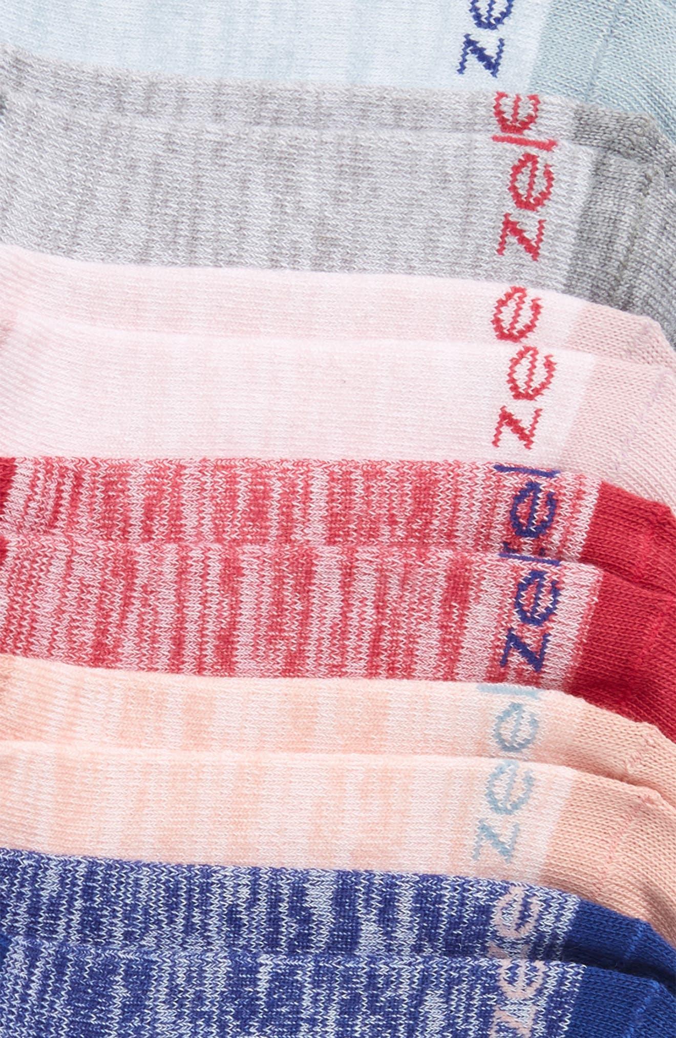 6-Pack Ankle Socks,                             Alternate thumbnail 2, color,                             PURPLE FRAGRANT