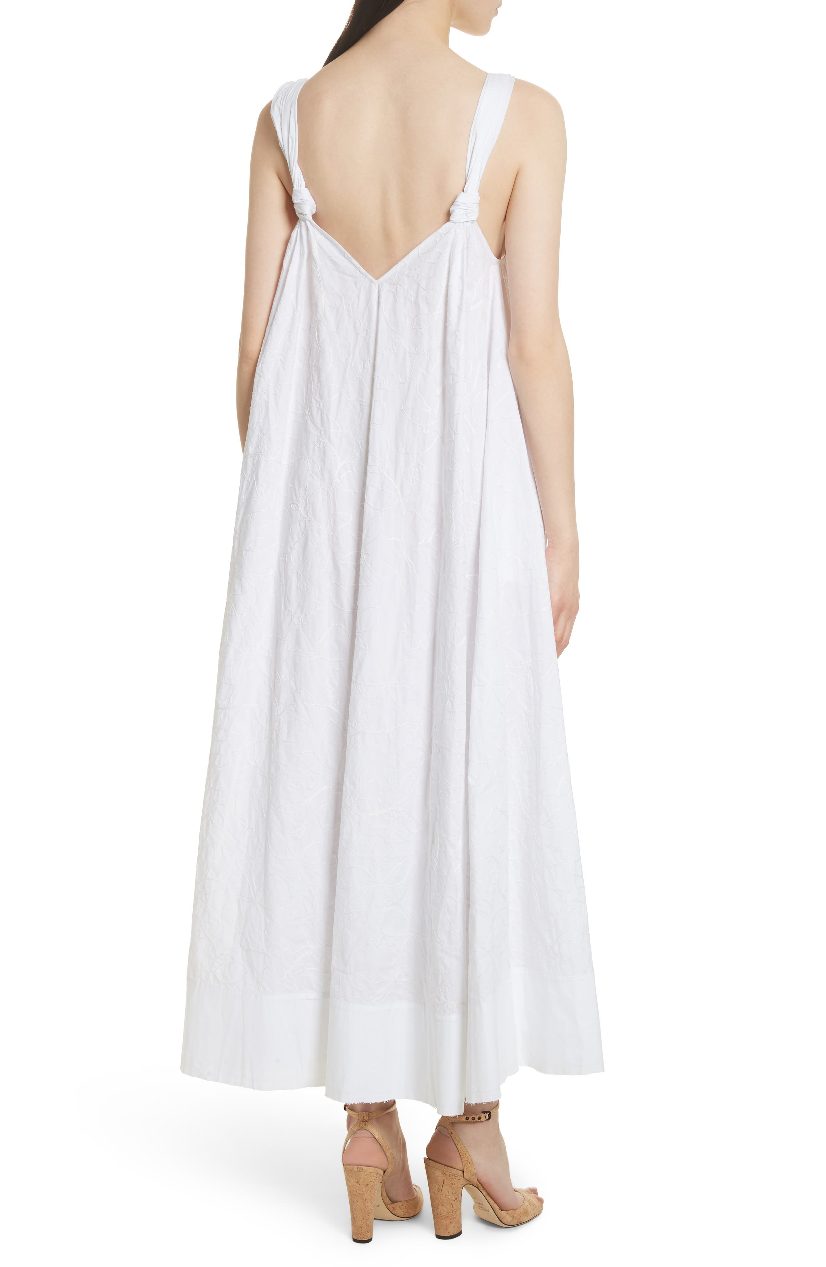 ELIZABETH AND JAMES,                             Denali Embroidered Maxi Dress,                             Alternate thumbnail 2, color,                             100