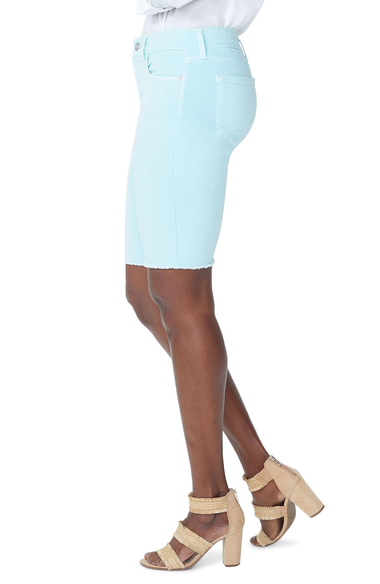 Briella Frayed Hem Bermuda Shorts,                             Alternate thumbnail 12, color,