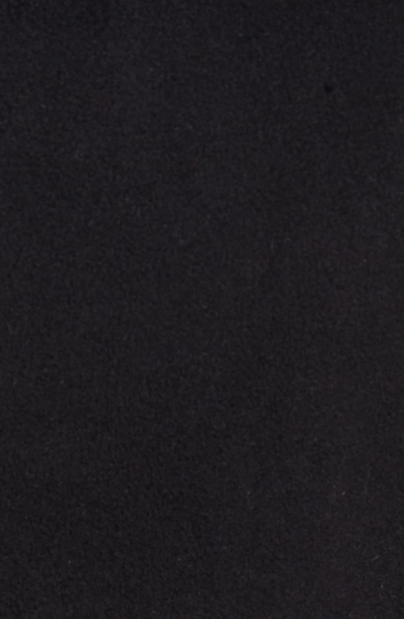Bonded Fleece Zip Front Vest,                             Alternate thumbnail 6, color,                             001