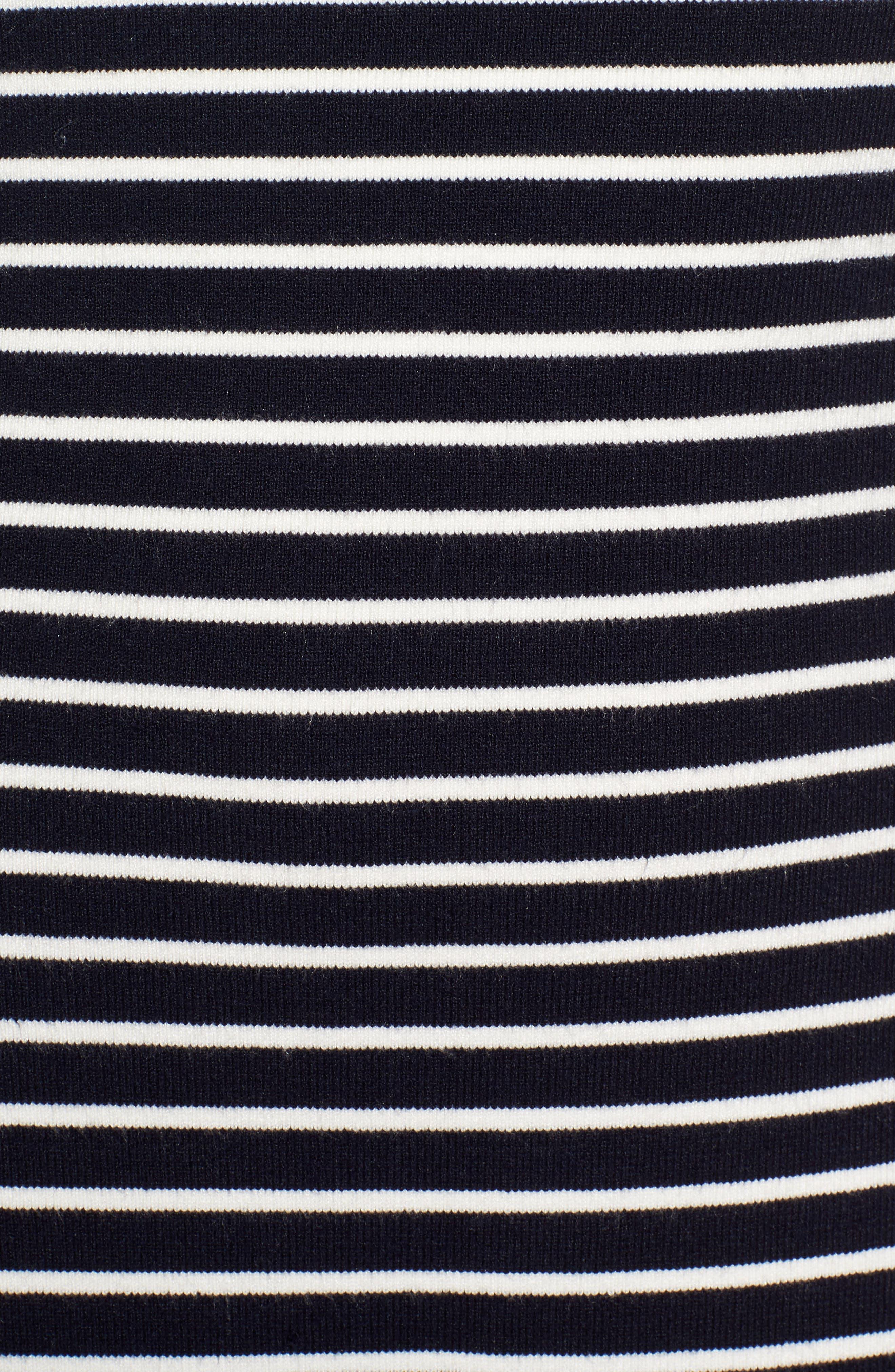 Flare Hem Ponte Dress,                             Alternate thumbnail 5, color,                             400