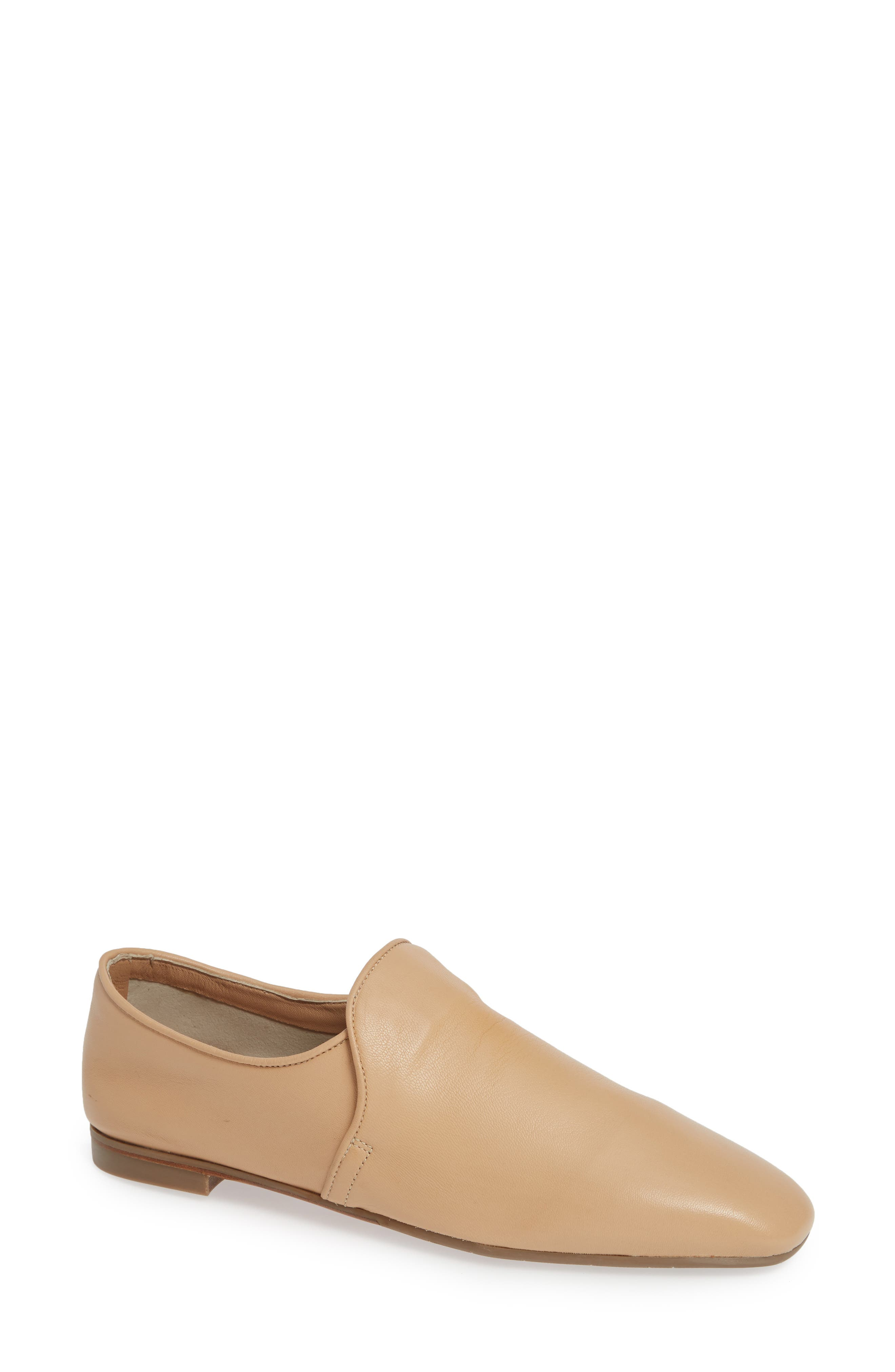Revy Weatherporoof Loafer,                             Main thumbnail 1, color,                             NUDE NAPPA