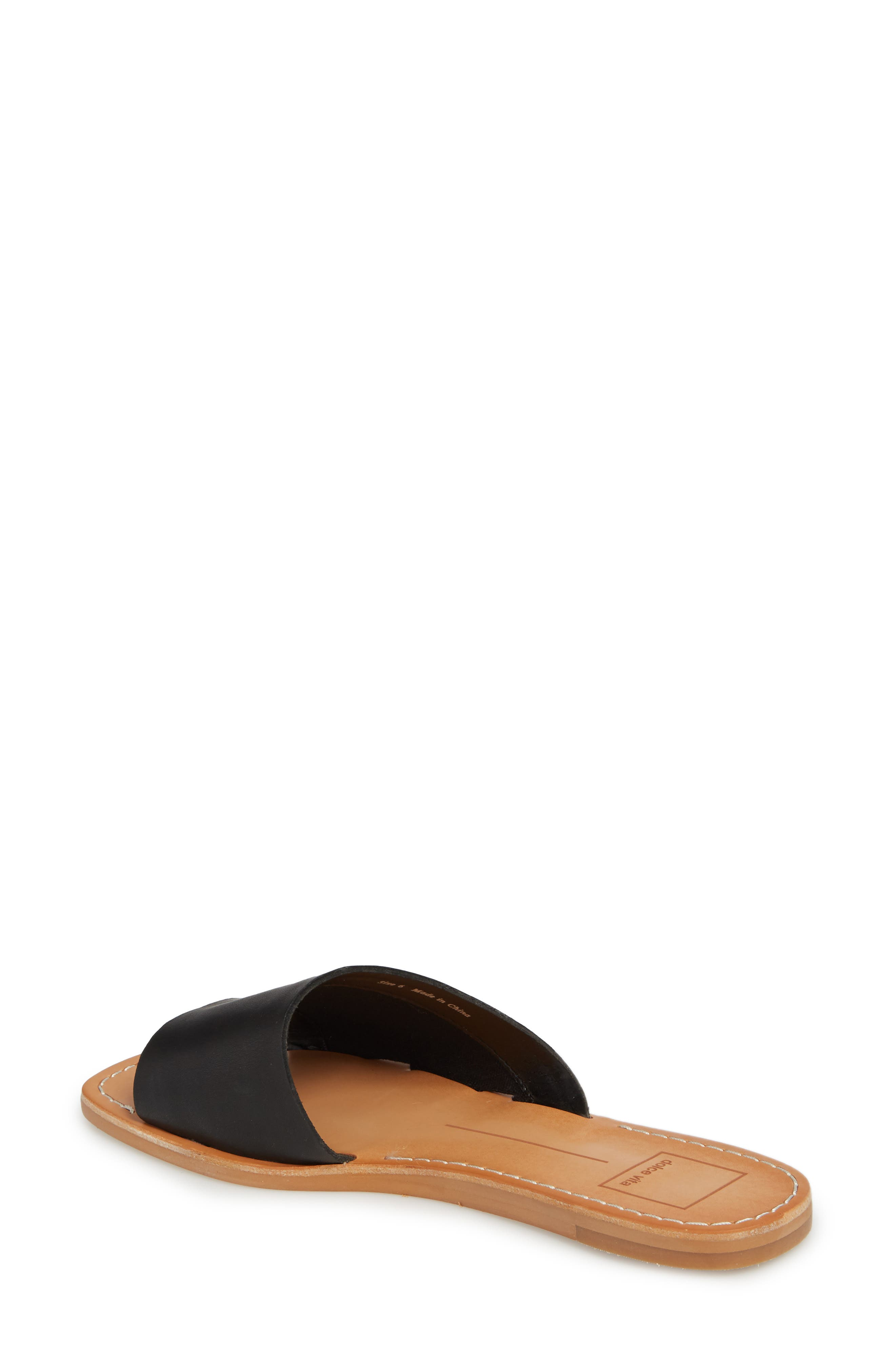 Cato Asymmetrical Slide Sandal,                             Alternate thumbnail 2, color,                             001