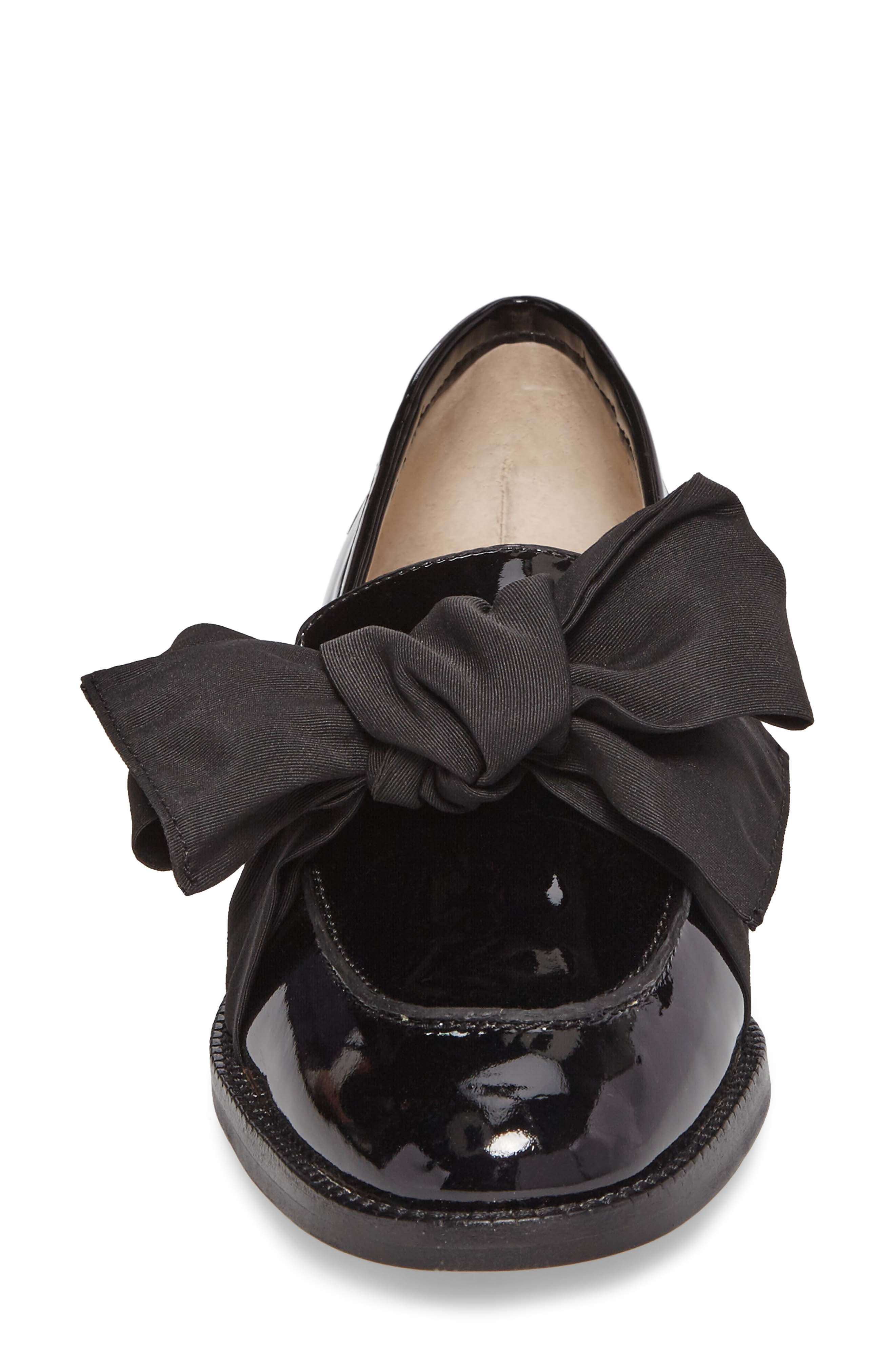 BOTKIER,                             Violet Bow Loafer,                             Alternate thumbnail 4, color,                             BLACK PATENT LEATHER