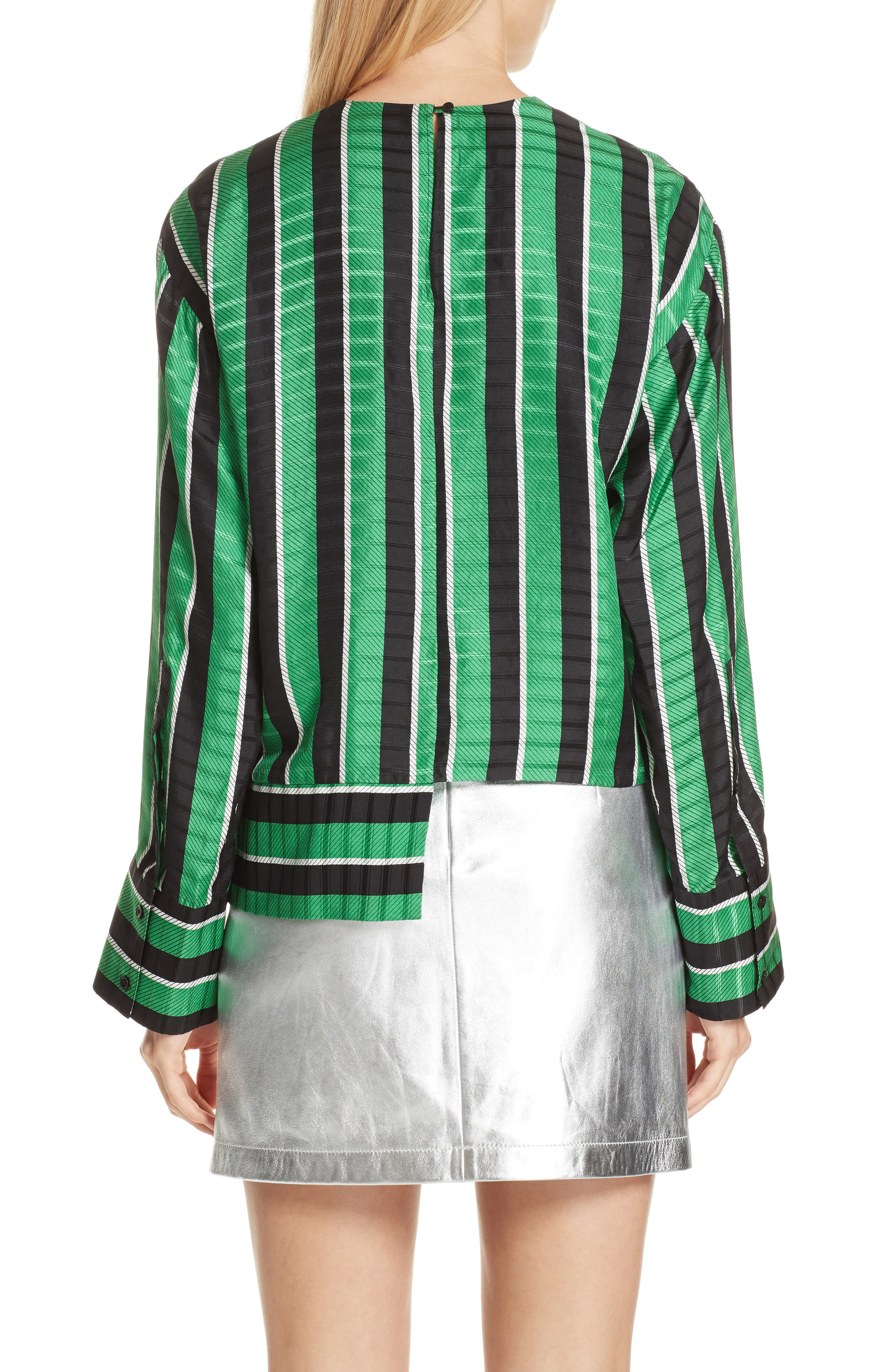 Tie Waist Stripe Blouse,                             Alternate thumbnail 2, color,                             310