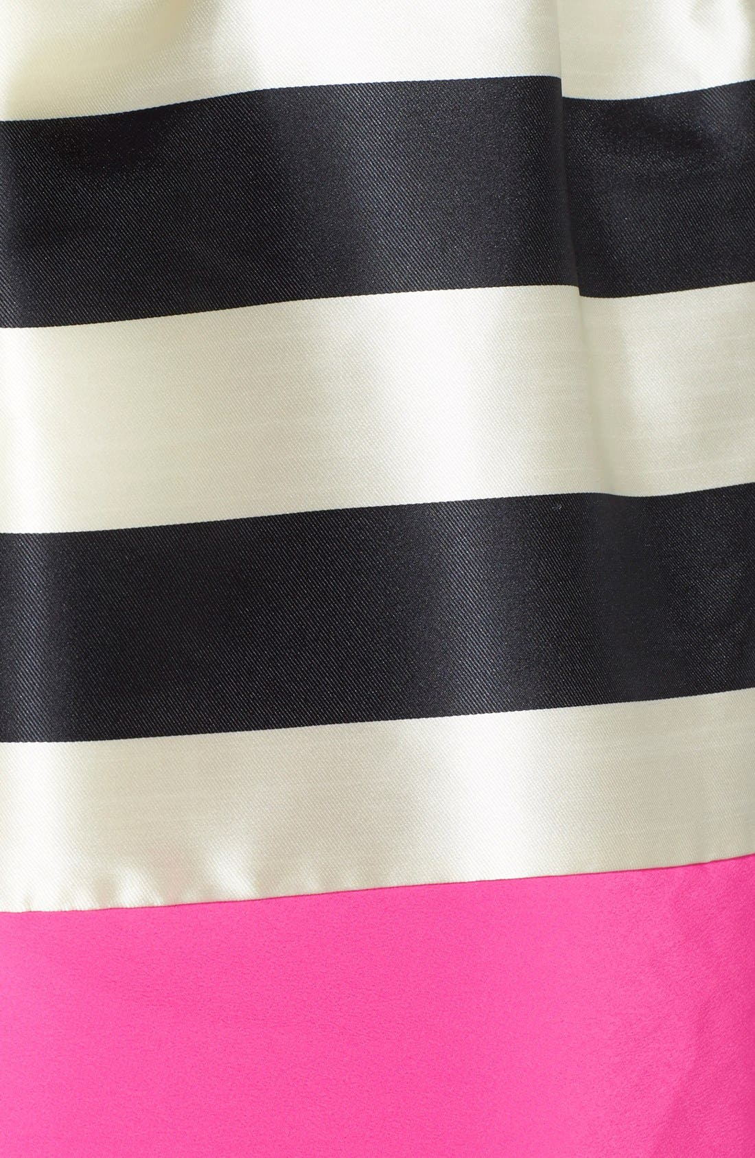 Stripe Crepe Fit & Flare Dress,                             Alternate thumbnail 4, color,                             011