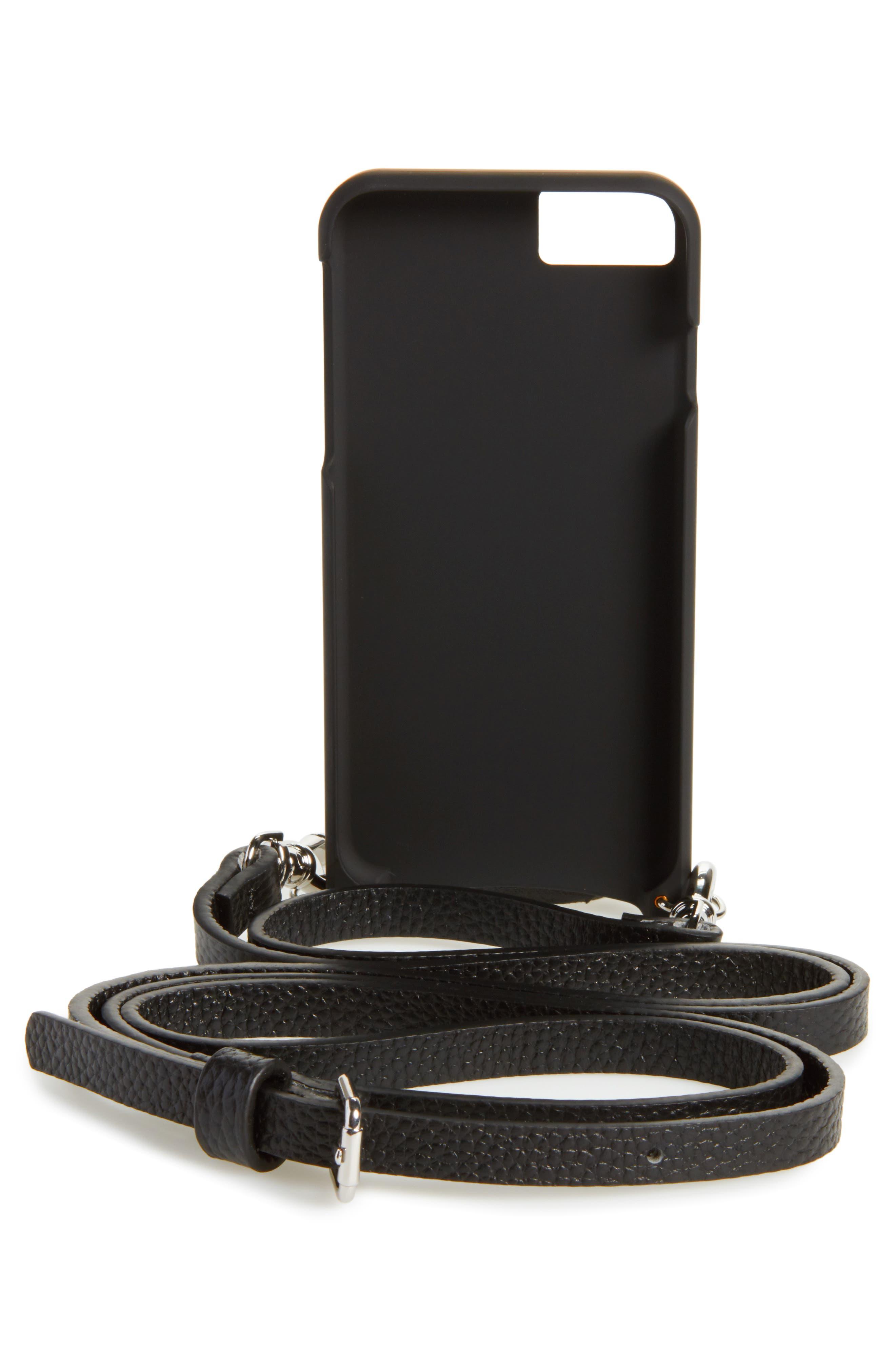 Emma iPhone 6/7/8 & 6/7/8 Plus Crossbody Case,                             Alternate thumbnail 2, color,                             NEW BLACK/ SILVER