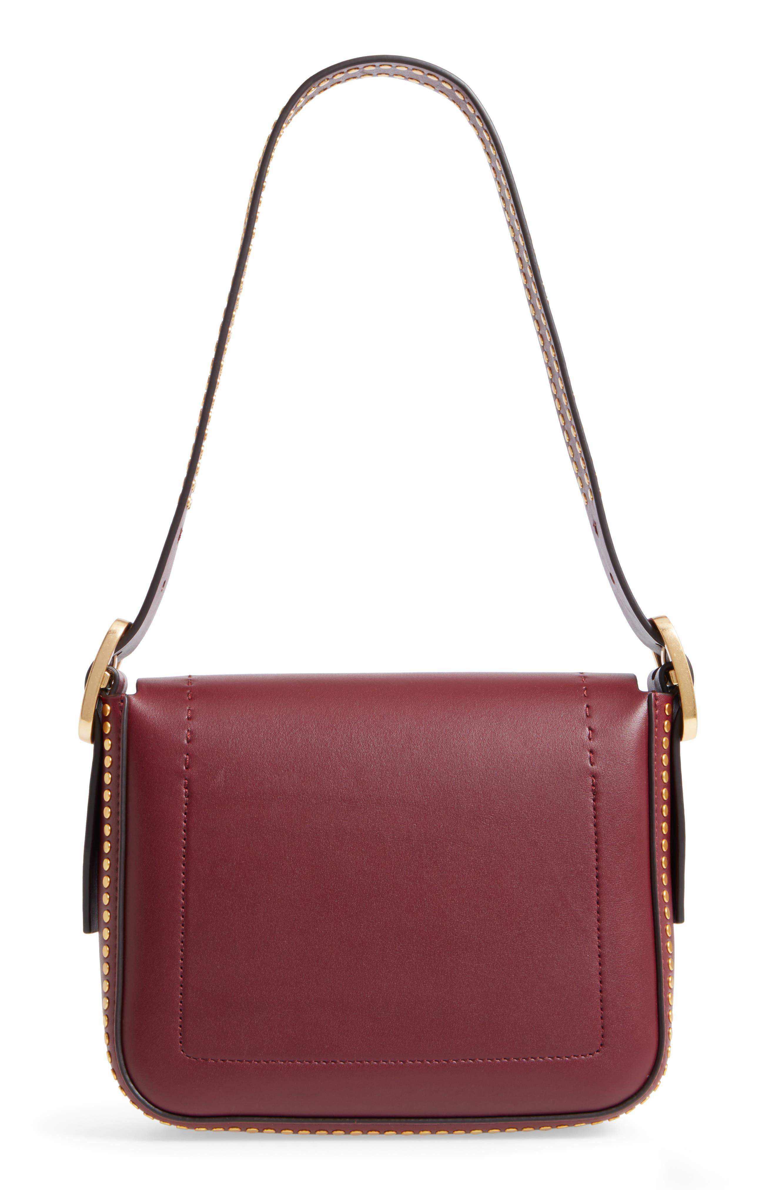Small Sawyer Studded Leather Shoulder Bag,                             Alternate thumbnail 3, color,                             616