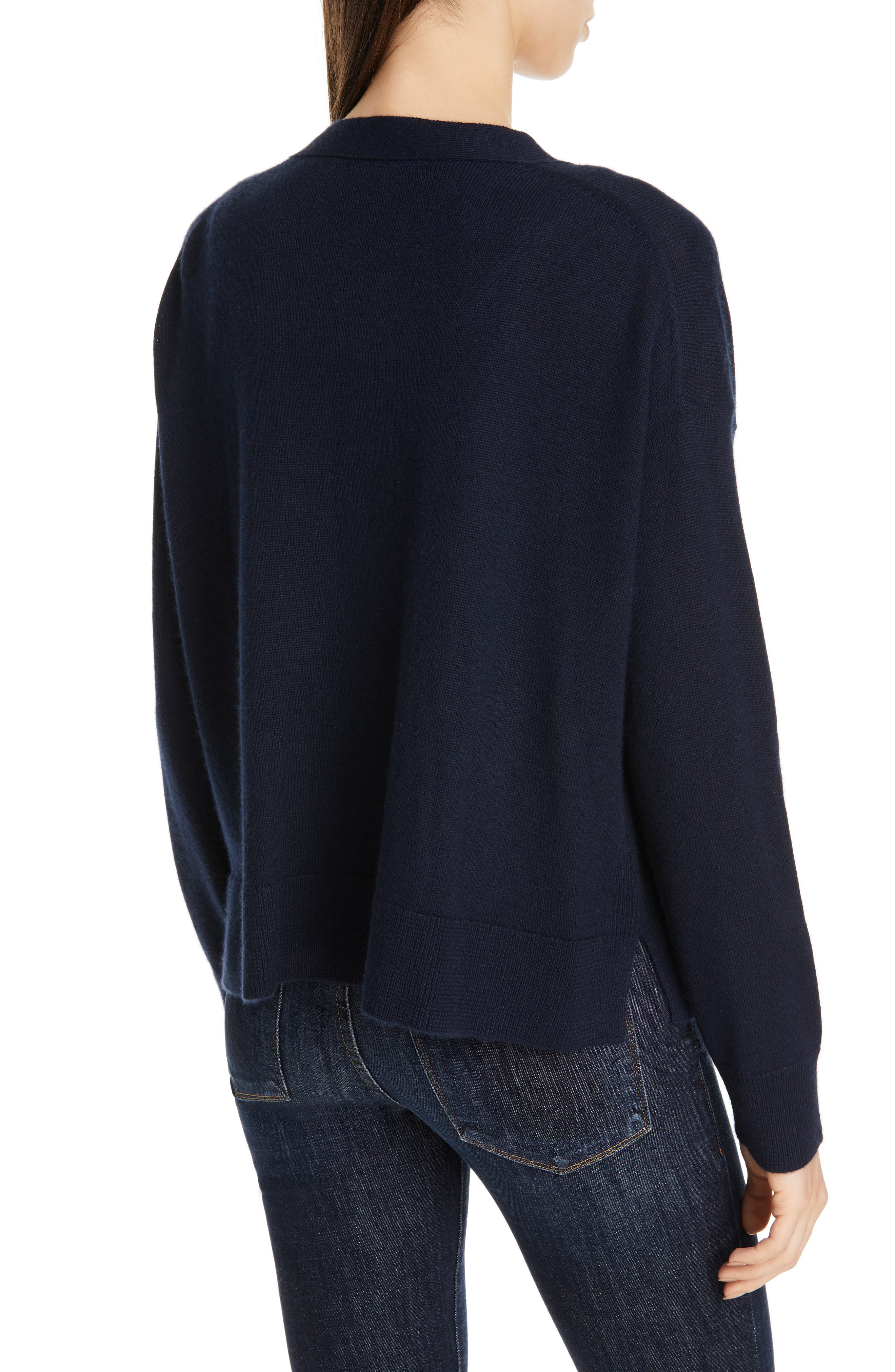 Button Up Cashmere & Linen Cardigan by Nordstrom Signature
