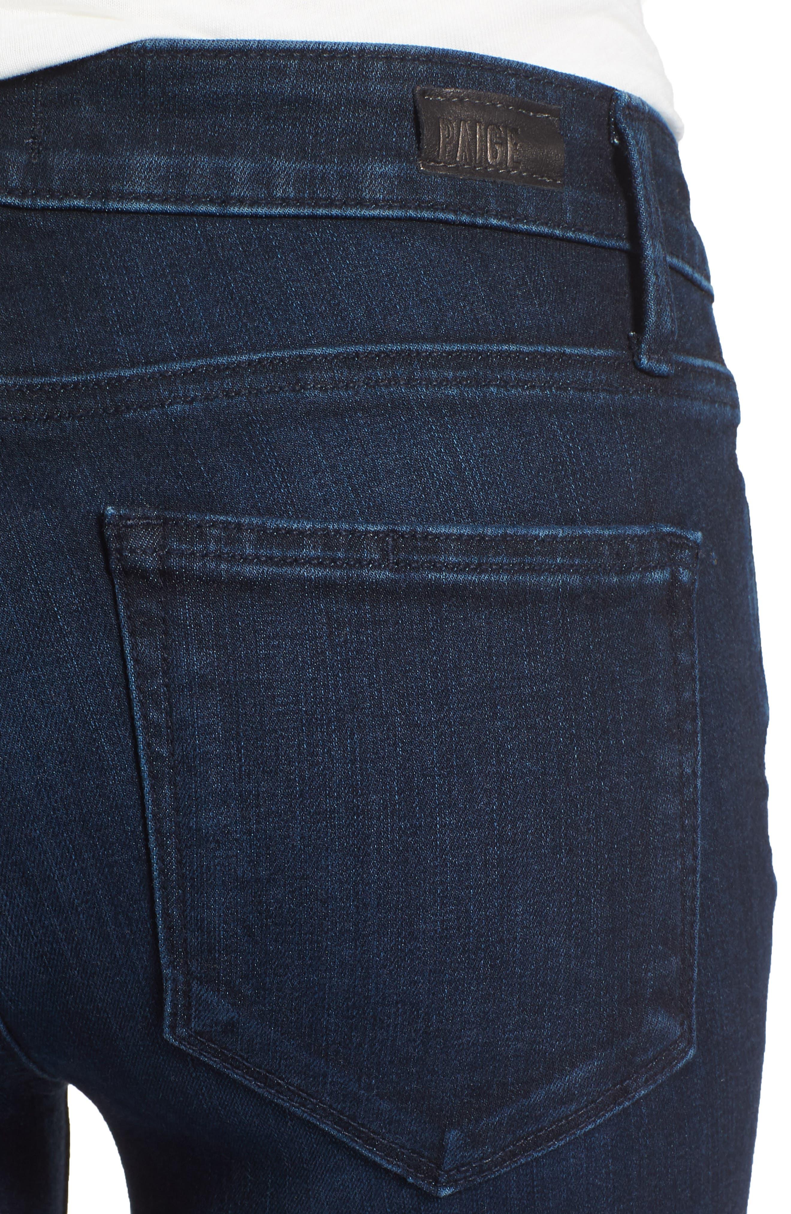 Transcend Vintage - Skyline Crop Skinny Jeans,                             Alternate thumbnail 4, color,                             LUELLA