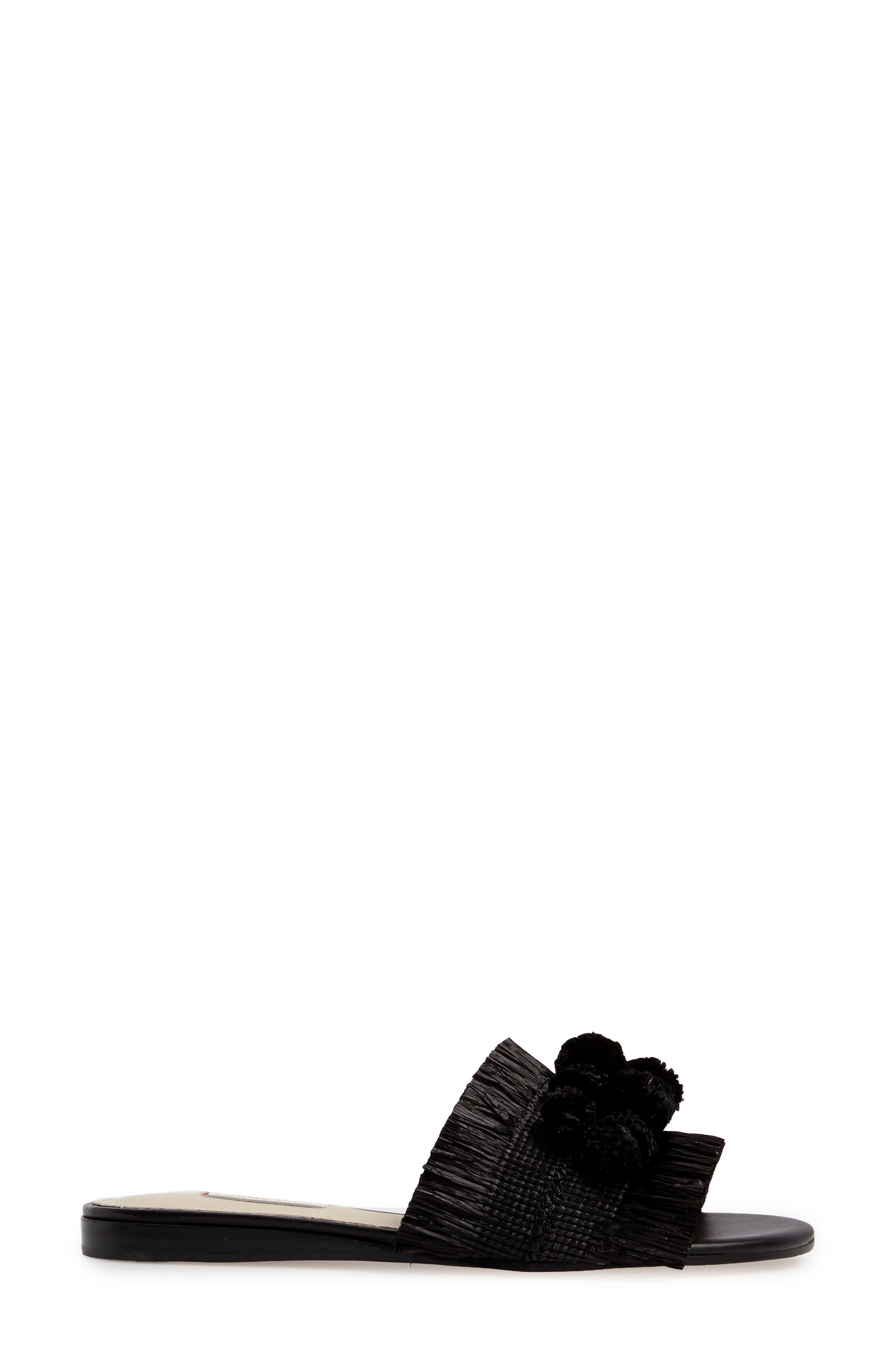 Arytha Raffia Slide Sandal,                             Alternate thumbnail 3, color,                             002