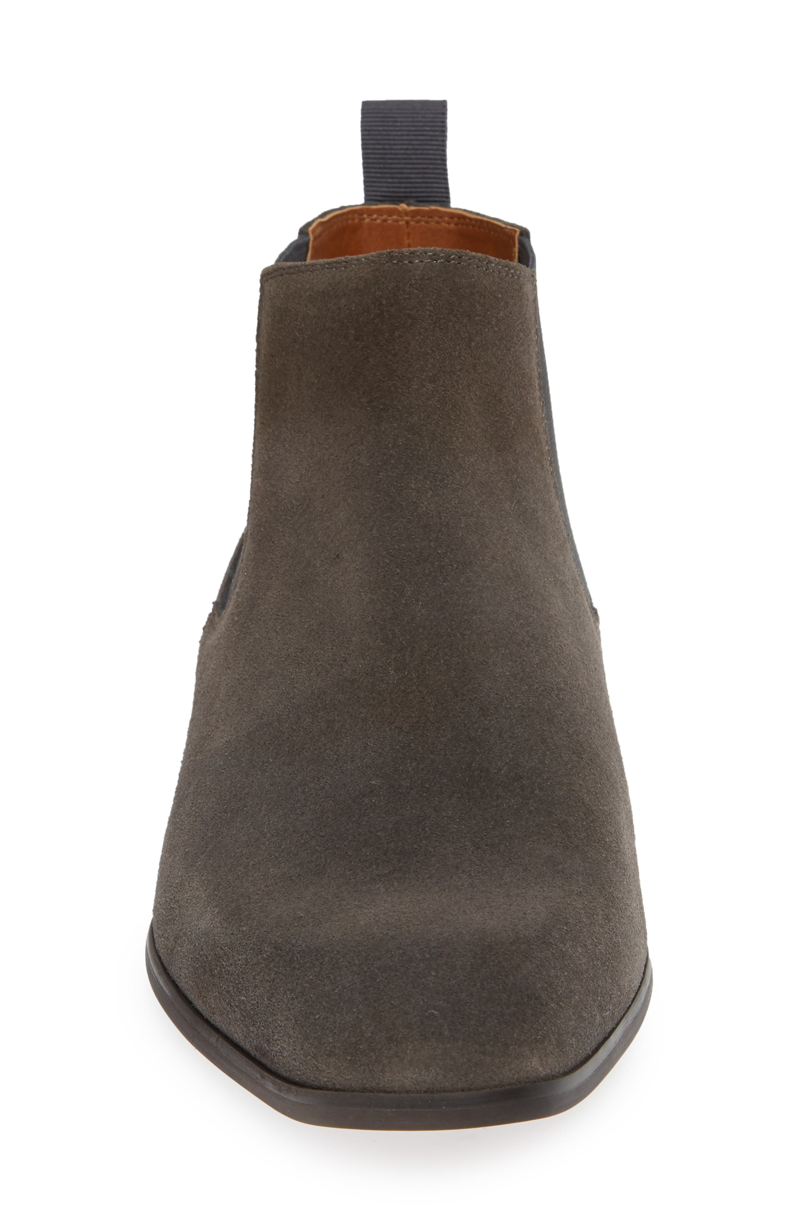 Edward Chelsea Boot,                             Alternate thumbnail 4, color,                             CHARCOAL SUEDE