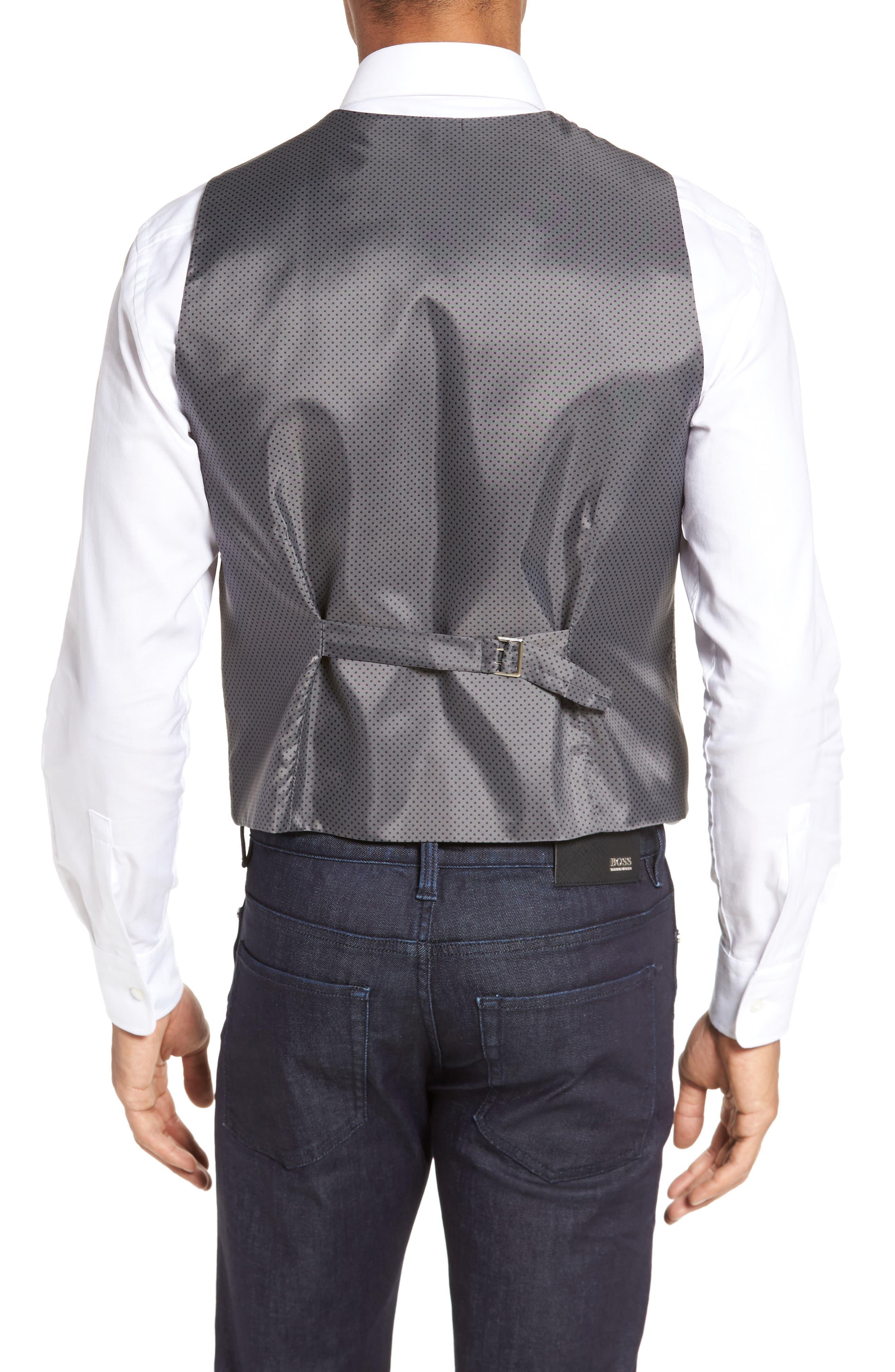 Textured Wool Blend Vest,                             Alternate thumbnail 2, color,                             020