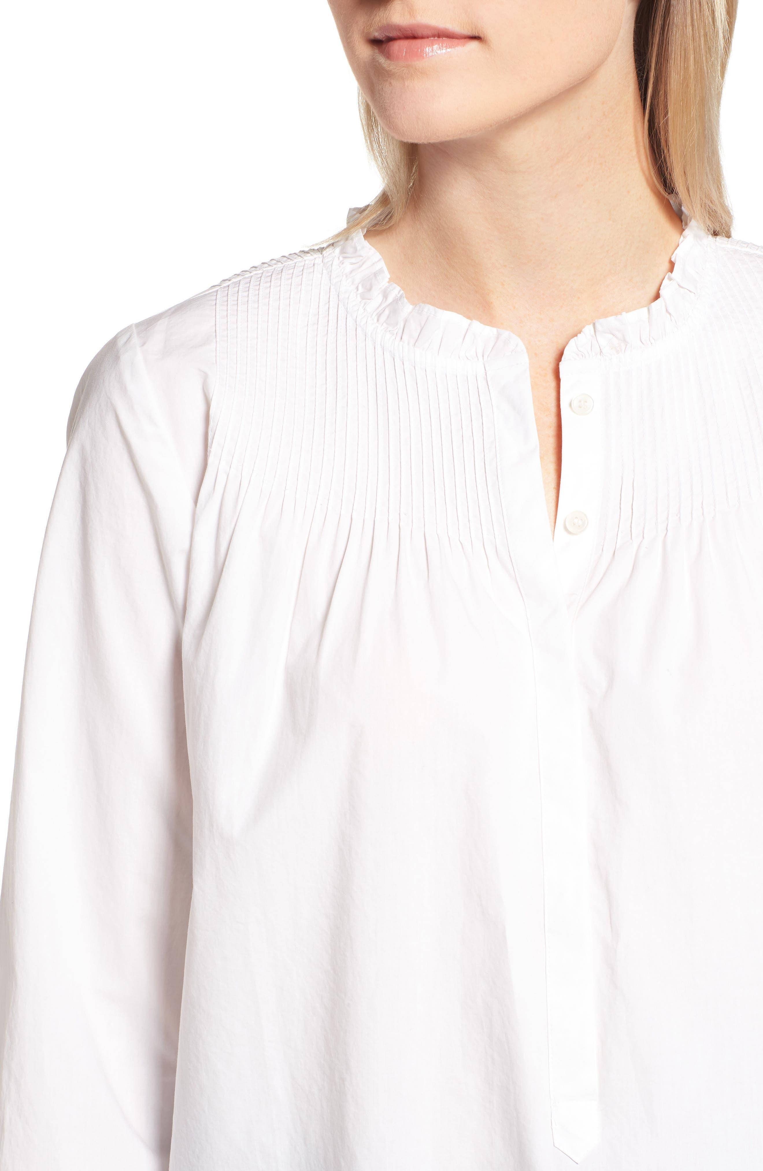Ruffle Popover Shirt,                             Alternate thumbnail 4, color,                             101