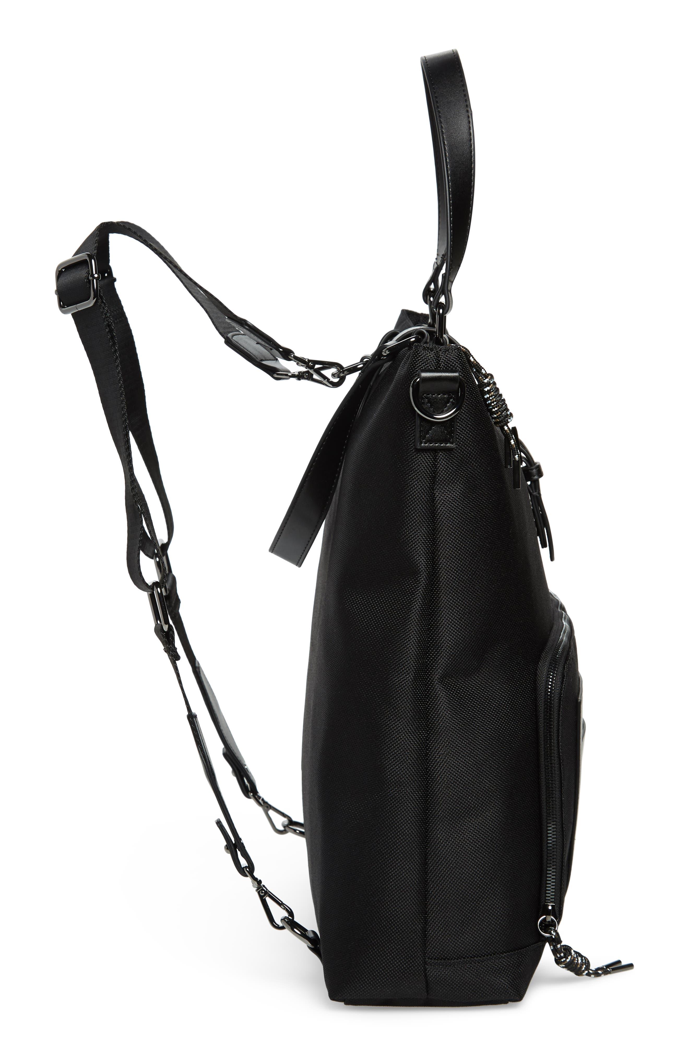 Tidee Convertible Backpack,                             Alternate thumbnail 5, color,                             BLACK