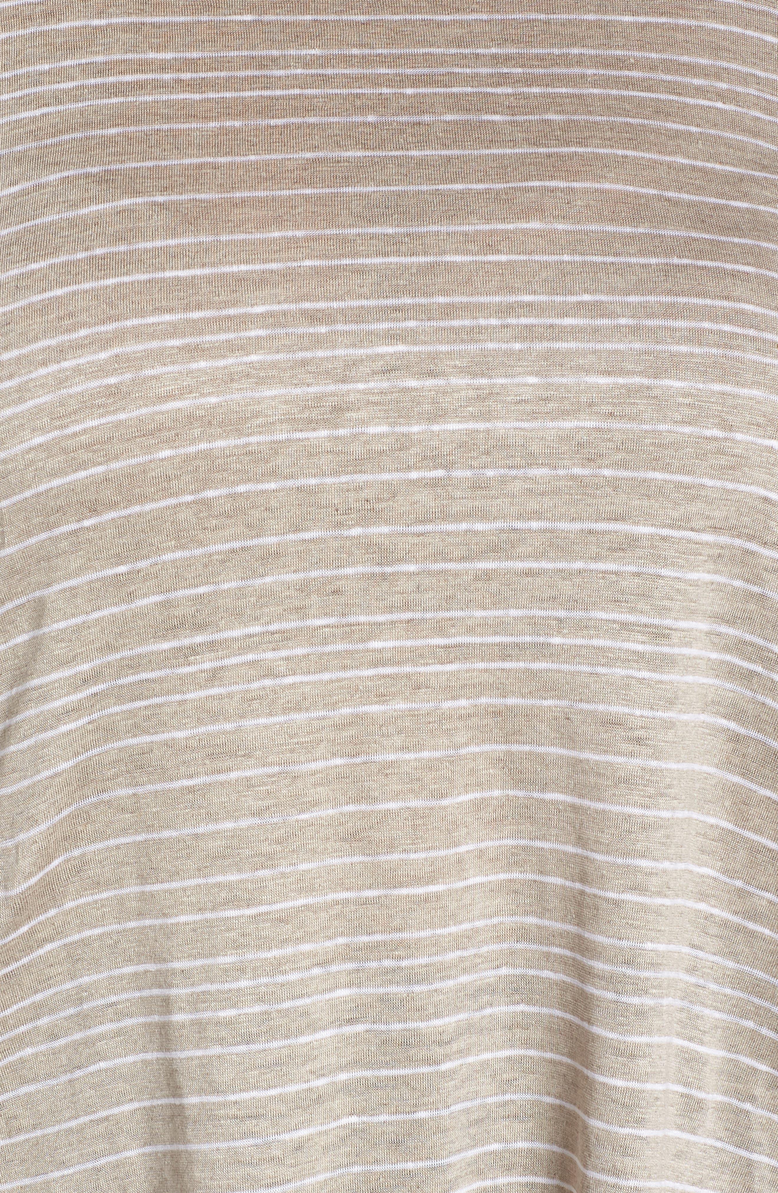 Stripe Organic Linen Top,                             Alternate thumbnail 10, color,