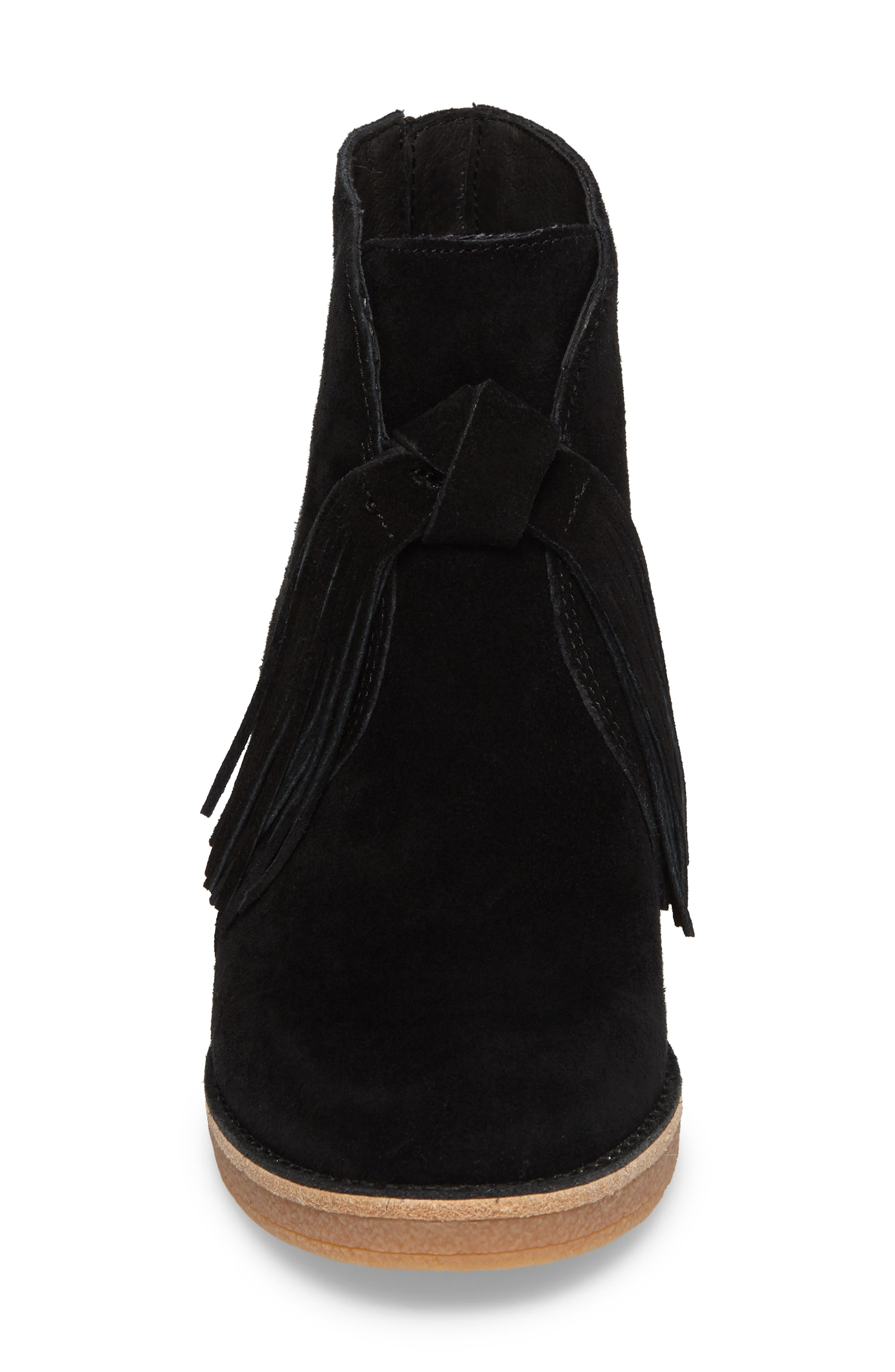 Corin Fringe Tassel Bootie,                             Alternate thumbnail 4, color,                             001