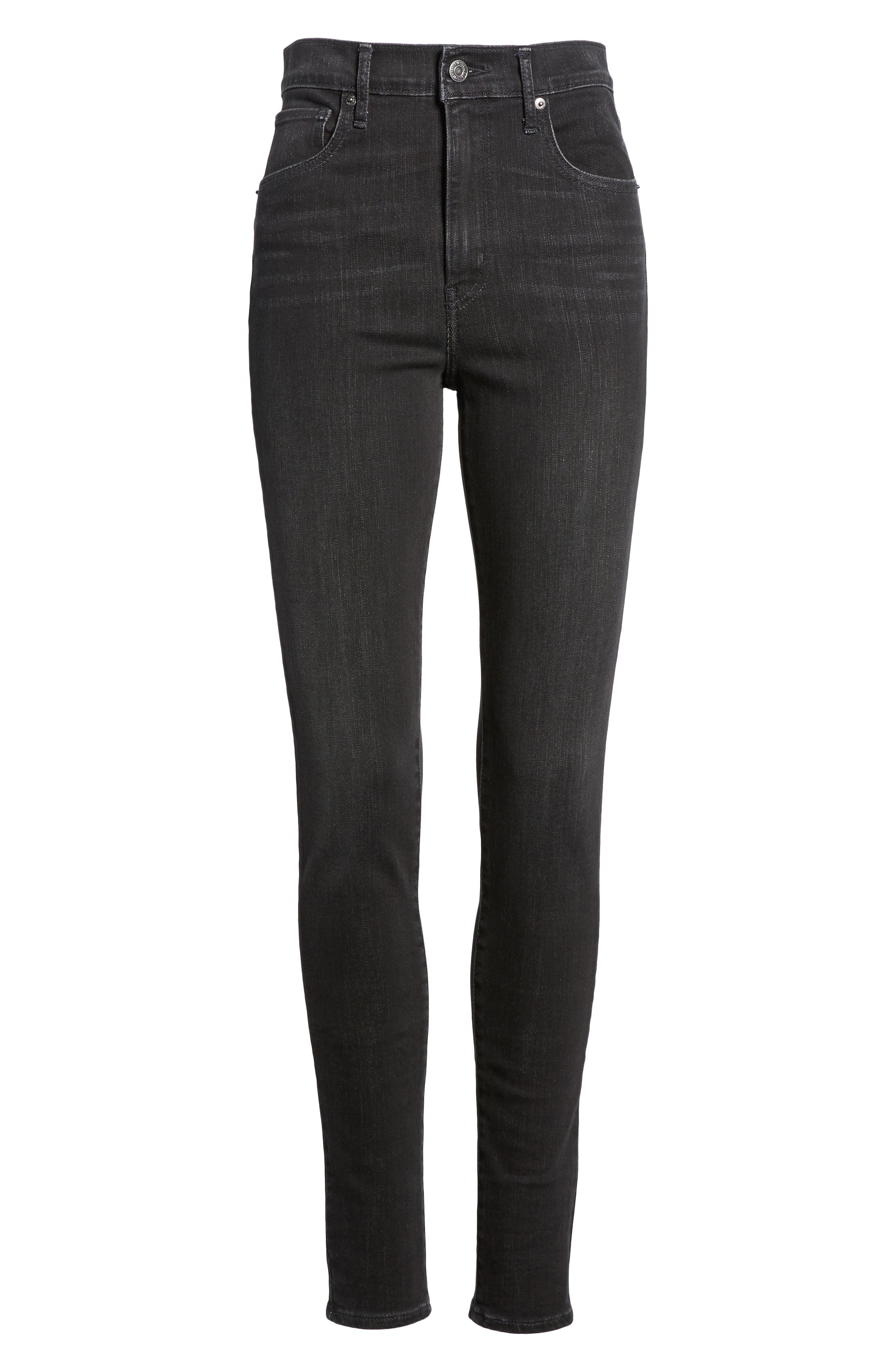 Mile High High Rise Skinny Jeans,                             Alternate thumbnail 6, color,                             001