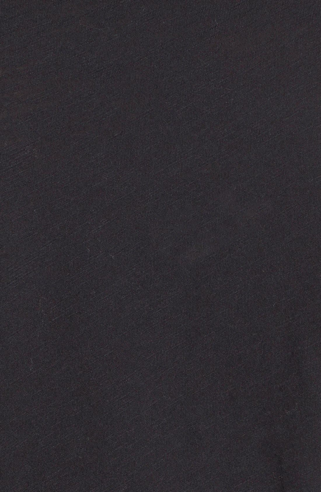'Whisper' Cotton Crewneck Tee,                             Alternate thumbnail 7, color,                             001