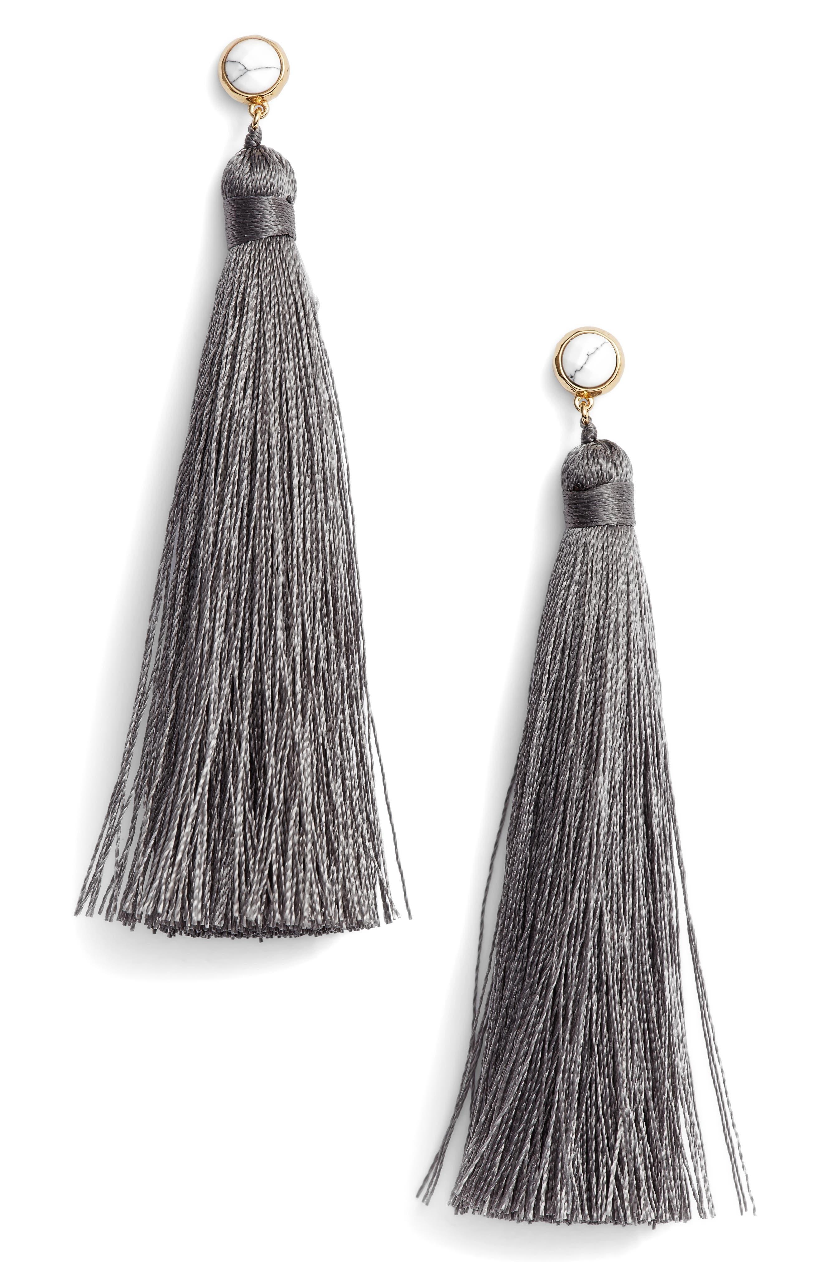 Tulum Tassel Earrings,                             Main thumbnail 1, color,                             020