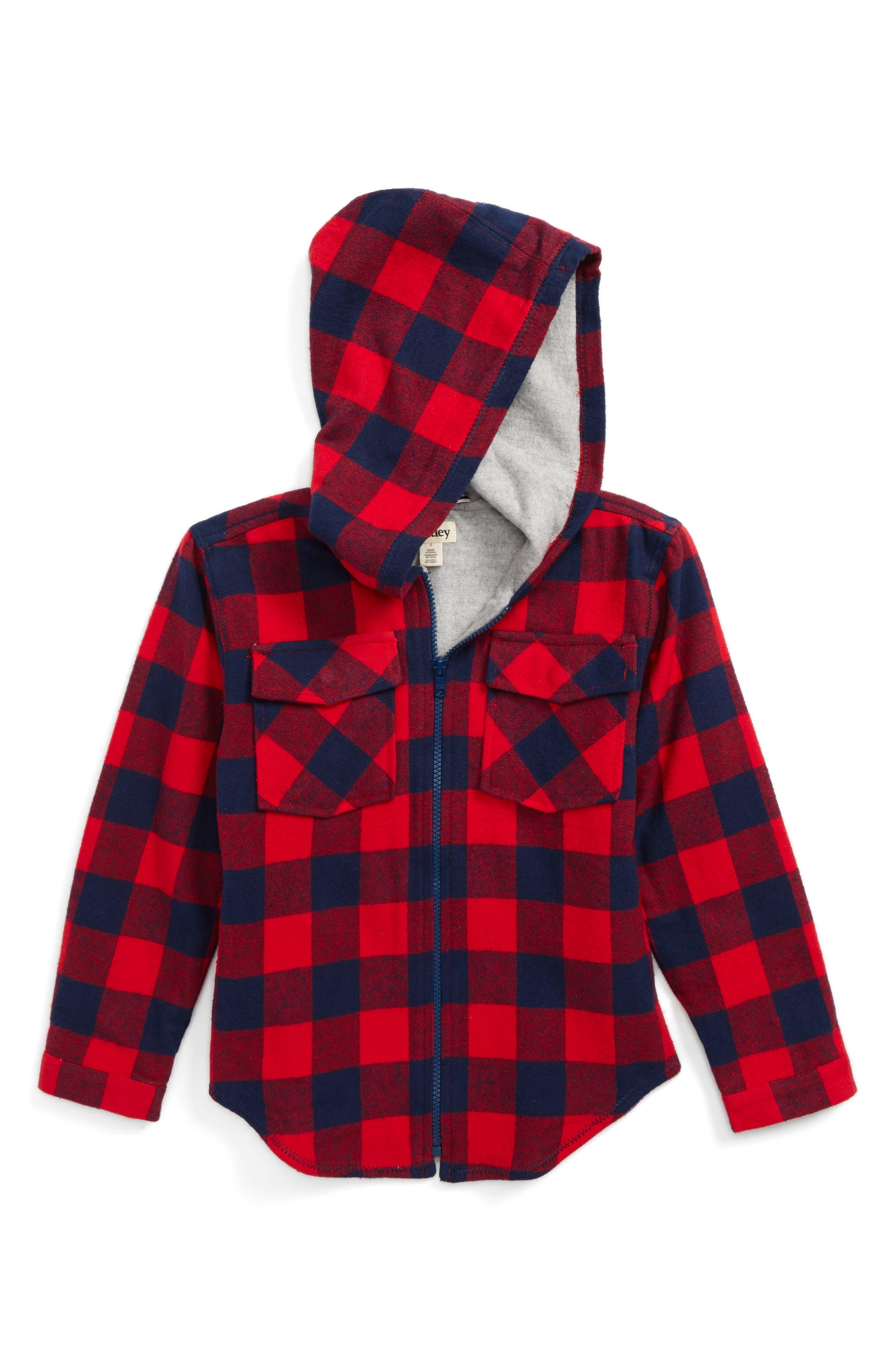 Flannel Jacket,                         Main,                         color, 600