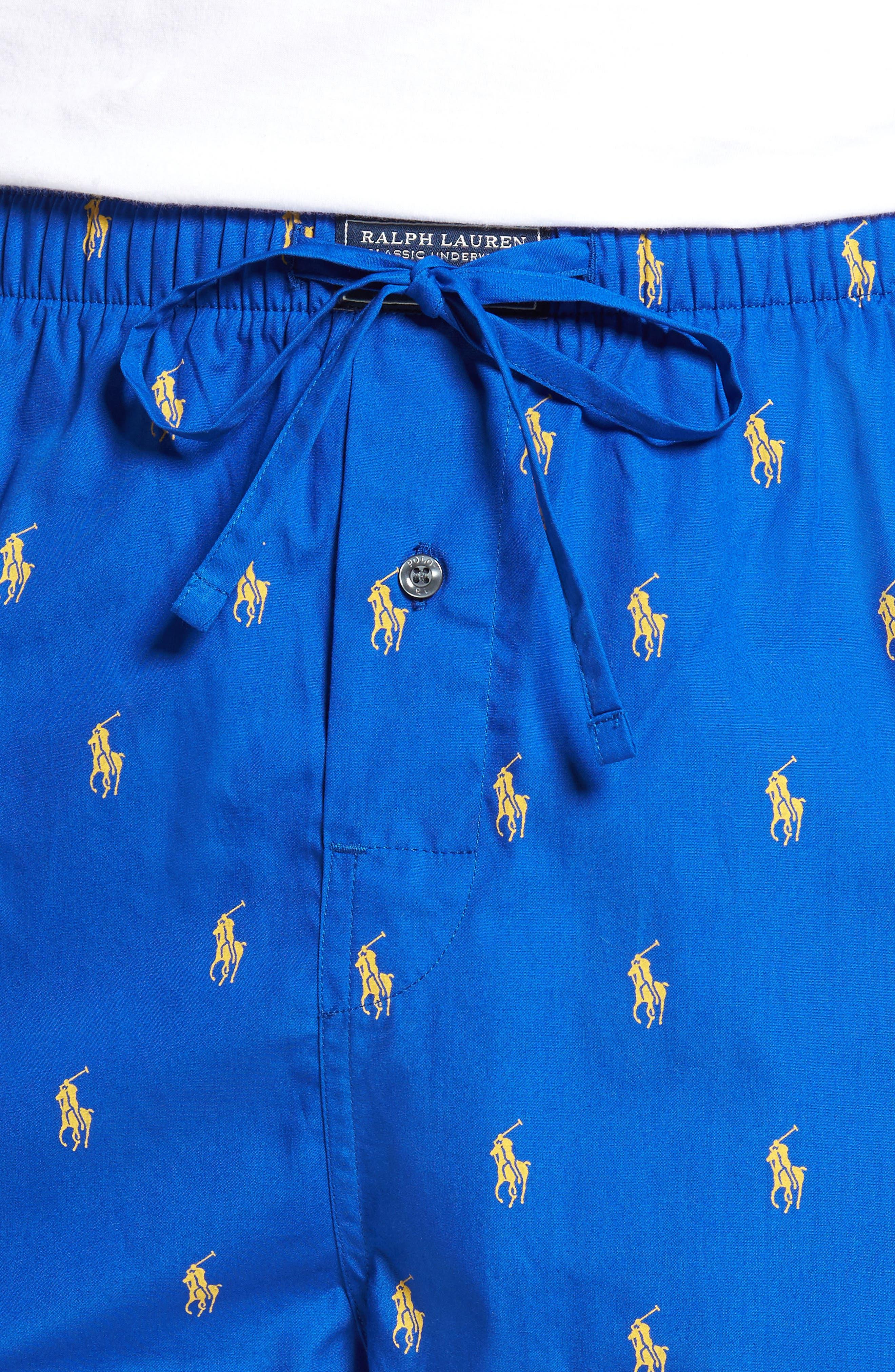 Polo Ralph Lauren Cotton Lounge Pants,                             Alternate thumbnail 18, color,
